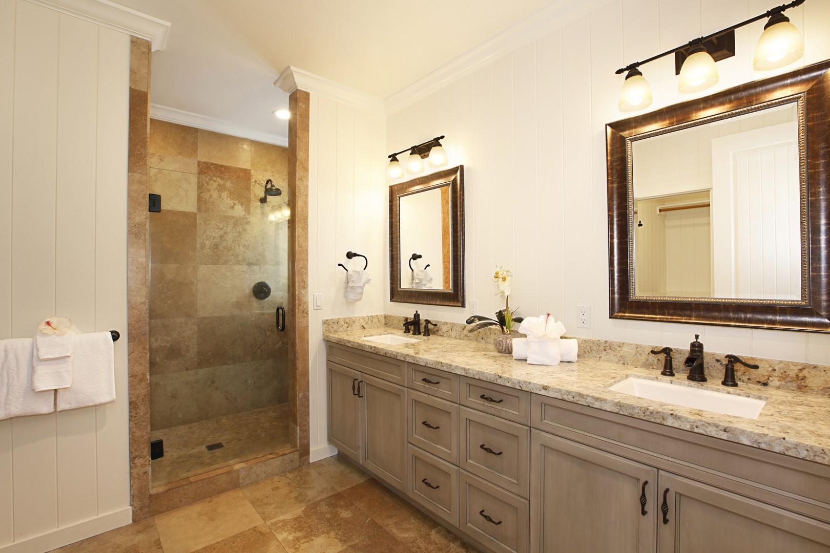 Guest Bathroom with dual shower heads