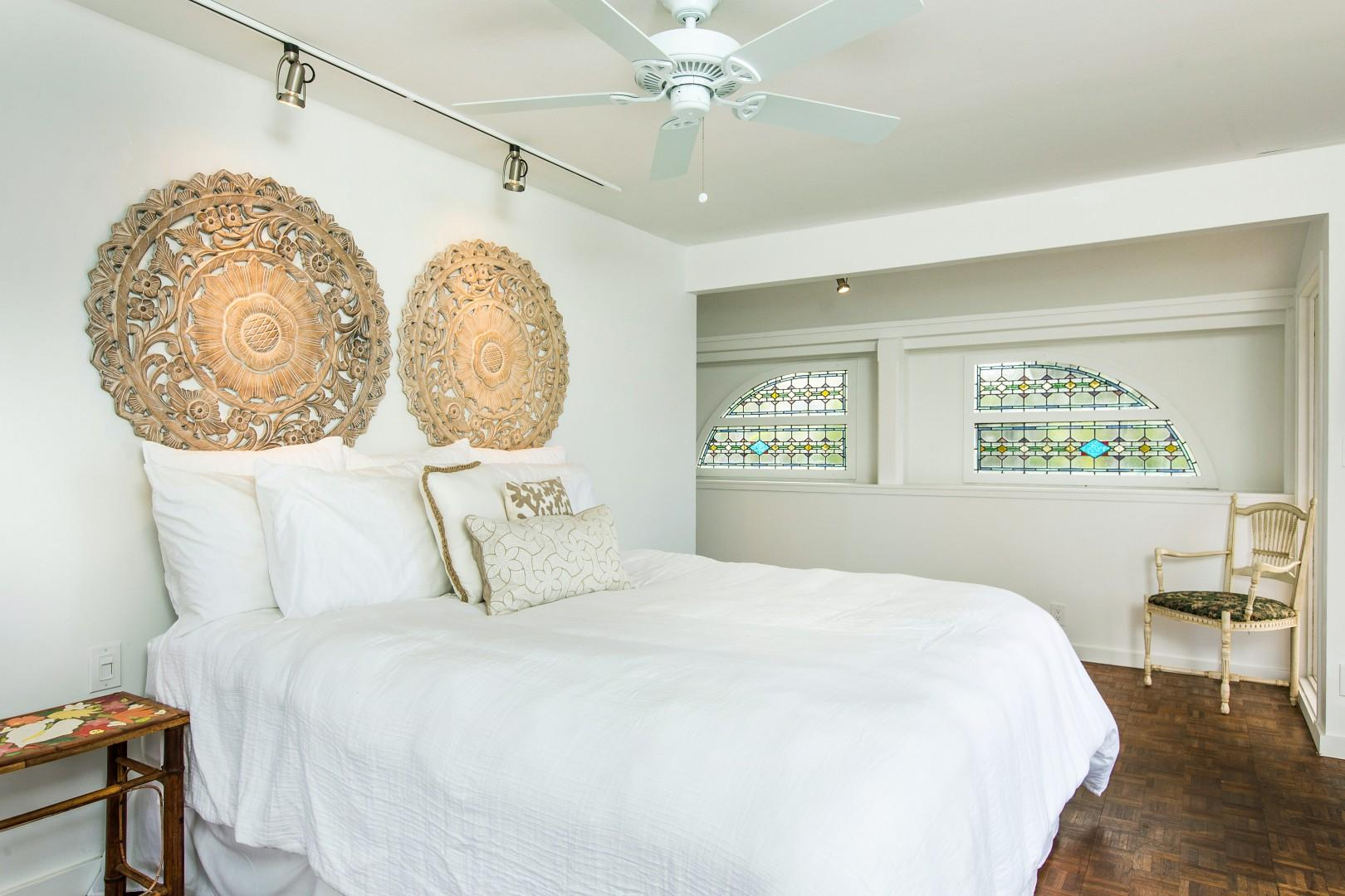 Upstairs you will find the master suite with an ocean view balcony, walk-in shower, and beautiful airflow.