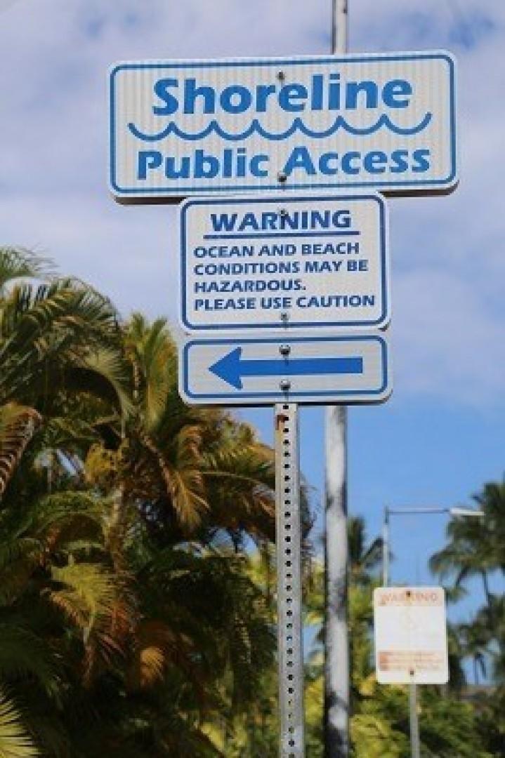 Convenient beach access.