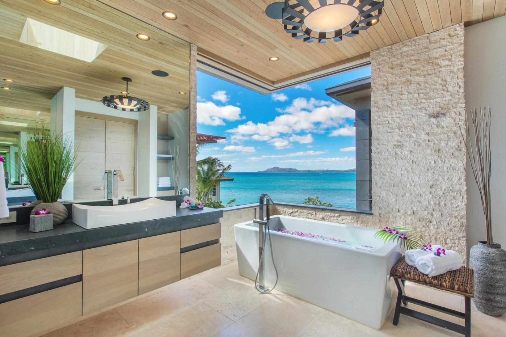 Master bathroom views.