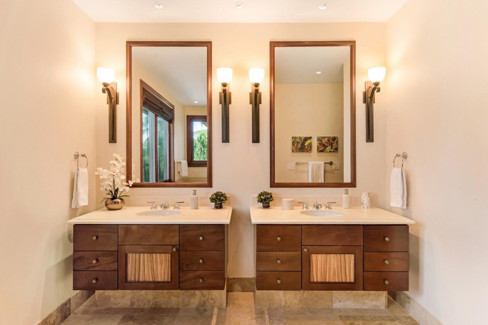 Upstairs Master Ensuite Bath w/ Double Vanity