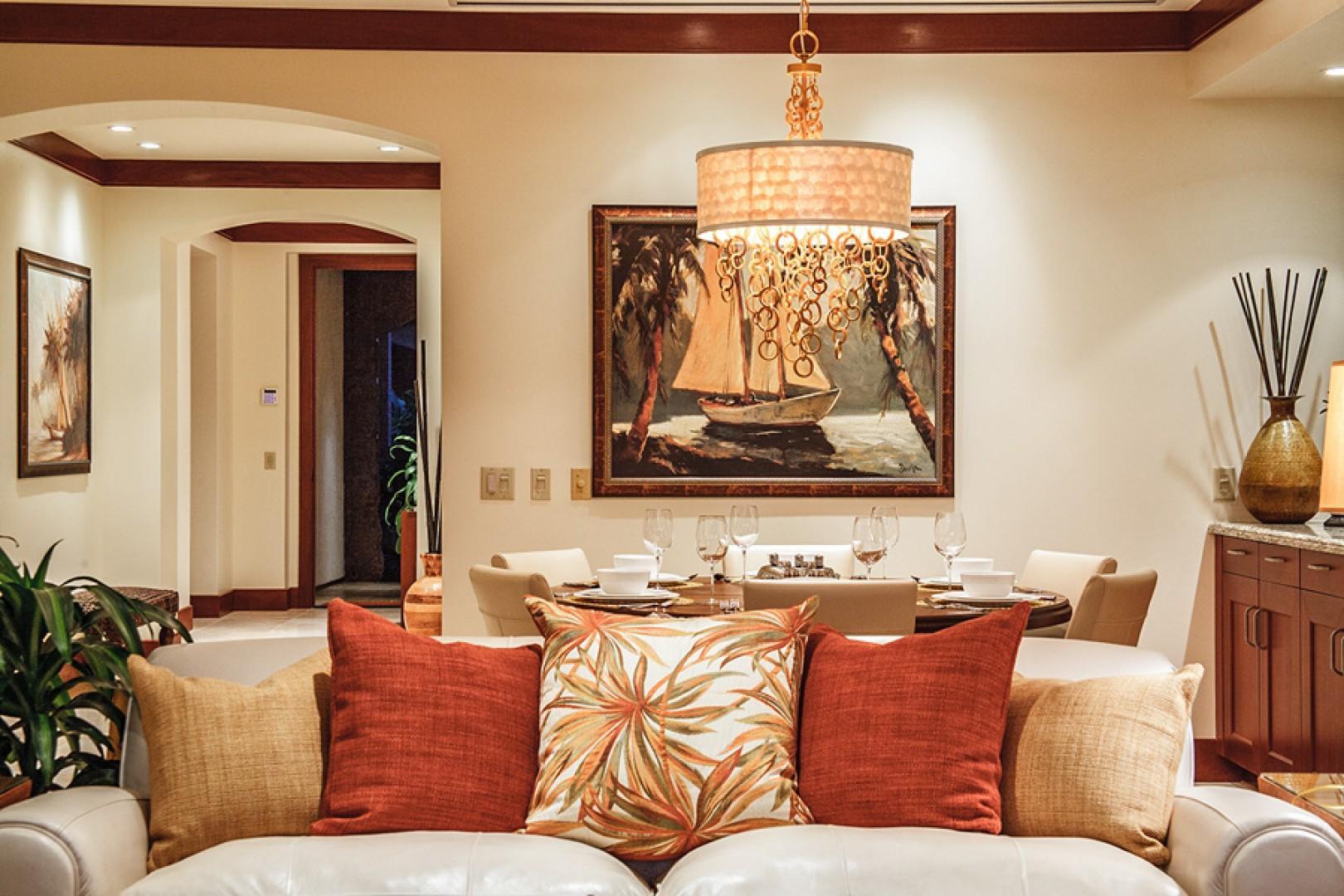 The finest art and decor throughout Bali Hai Pool Villa.