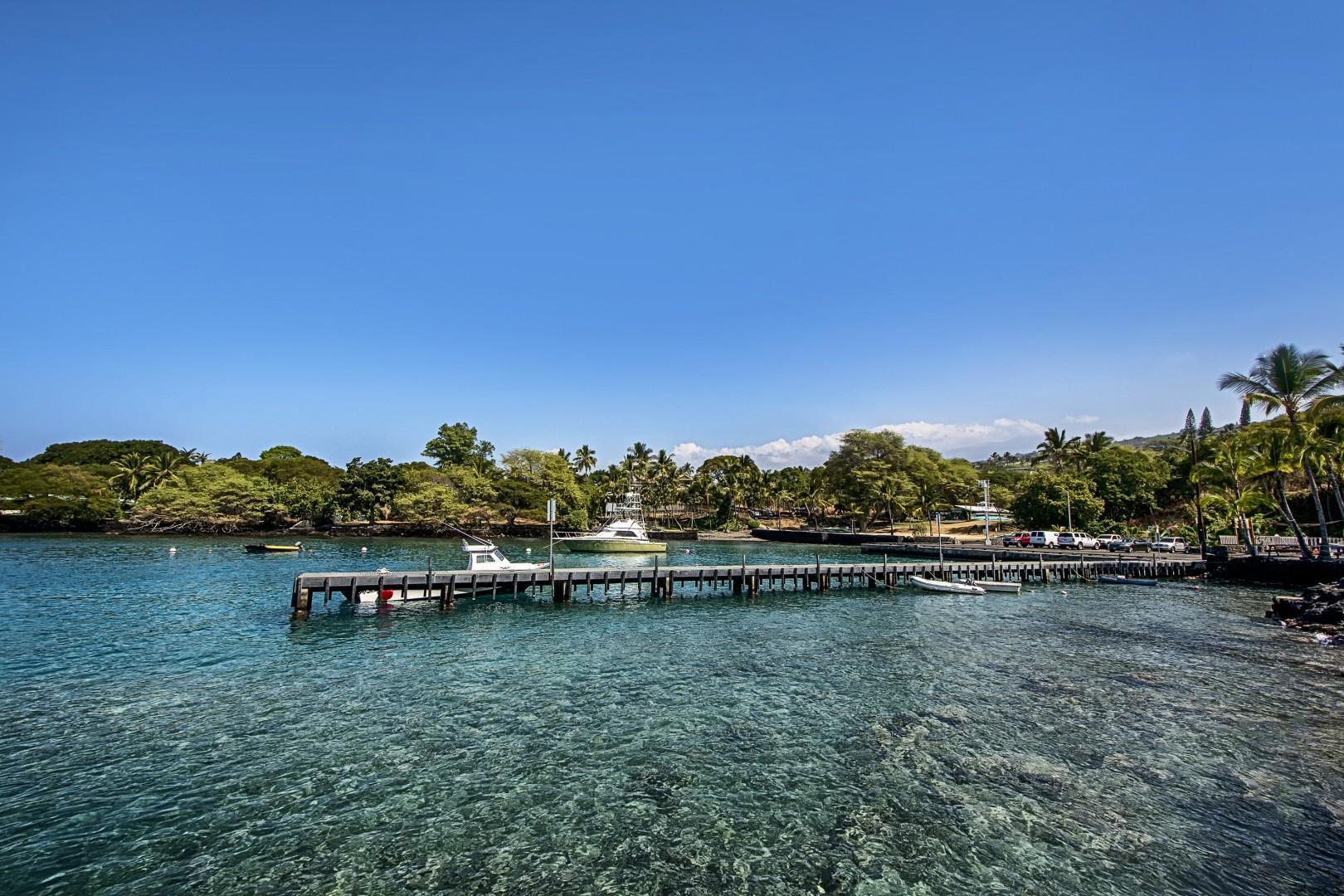 Nearby Keauhou Harbor