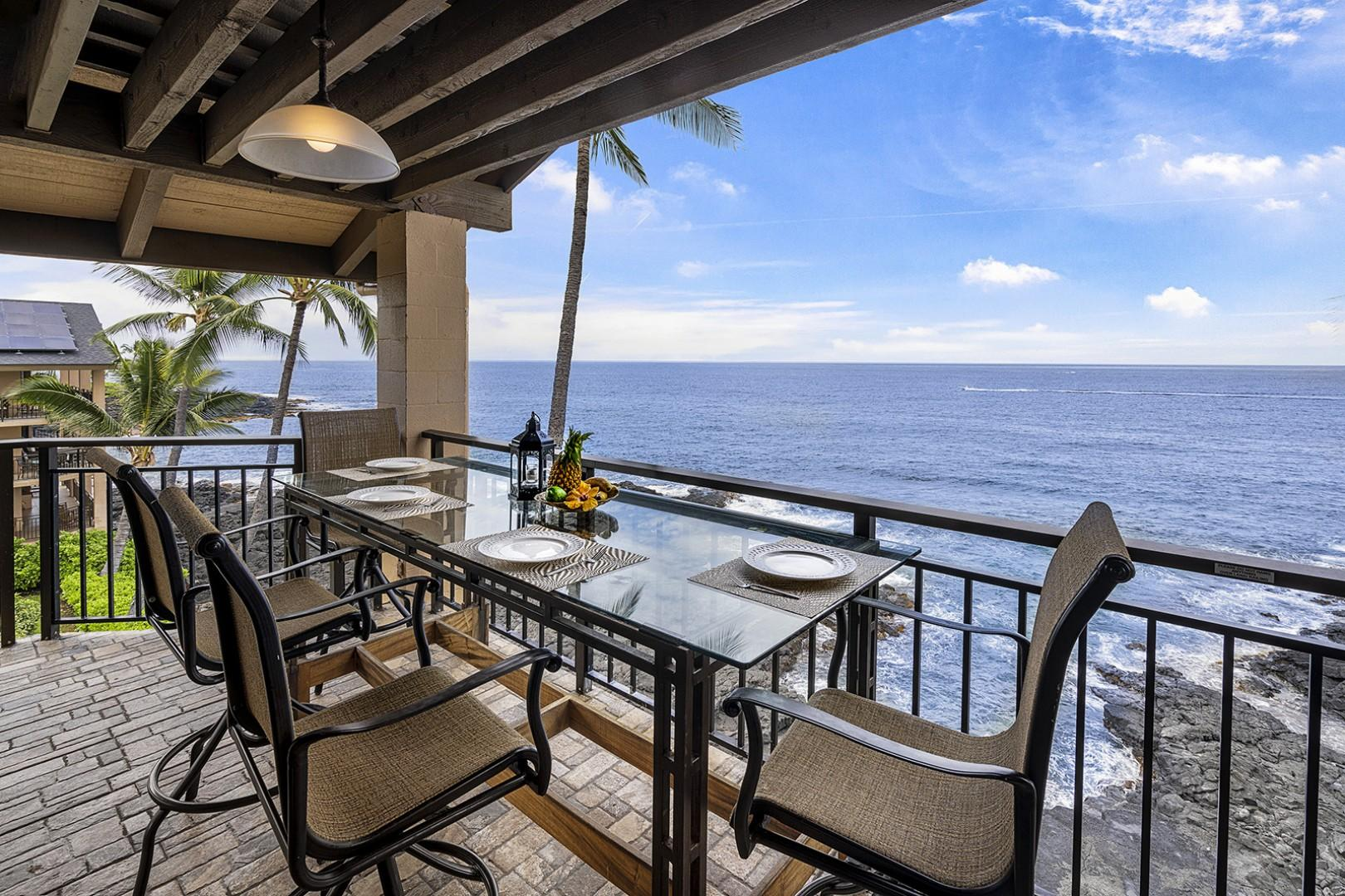 Wrap around Lanai means views as far as the eye can see!