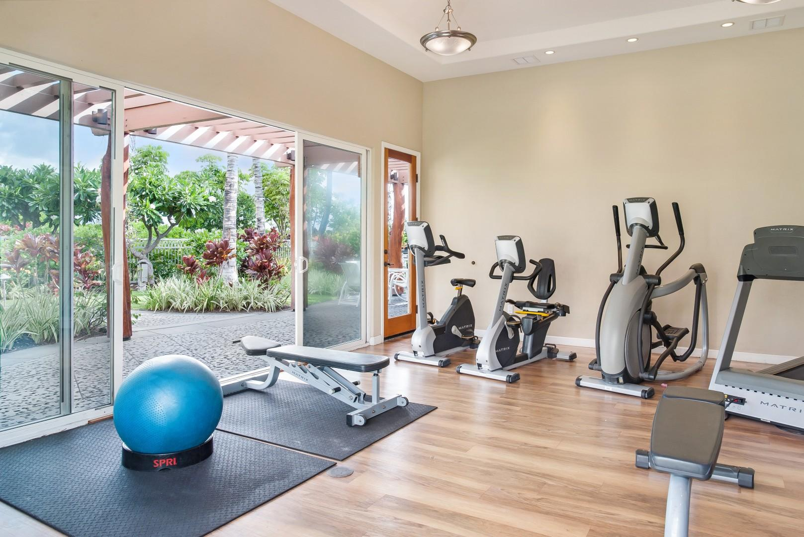Alternative View of Fitness Center Next to Pool & Directly Across From Villa