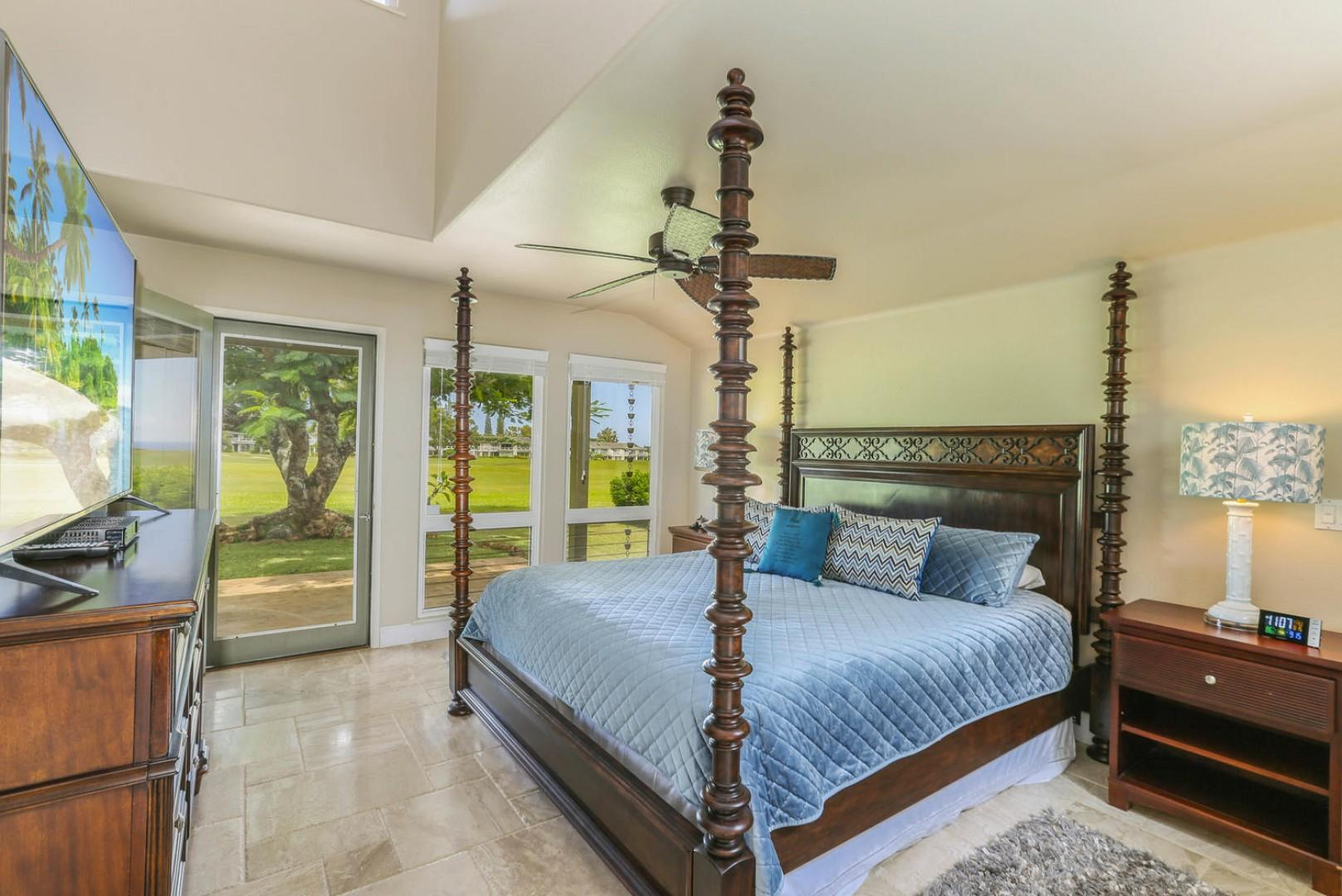 Master Bedroom with Backyard Access
