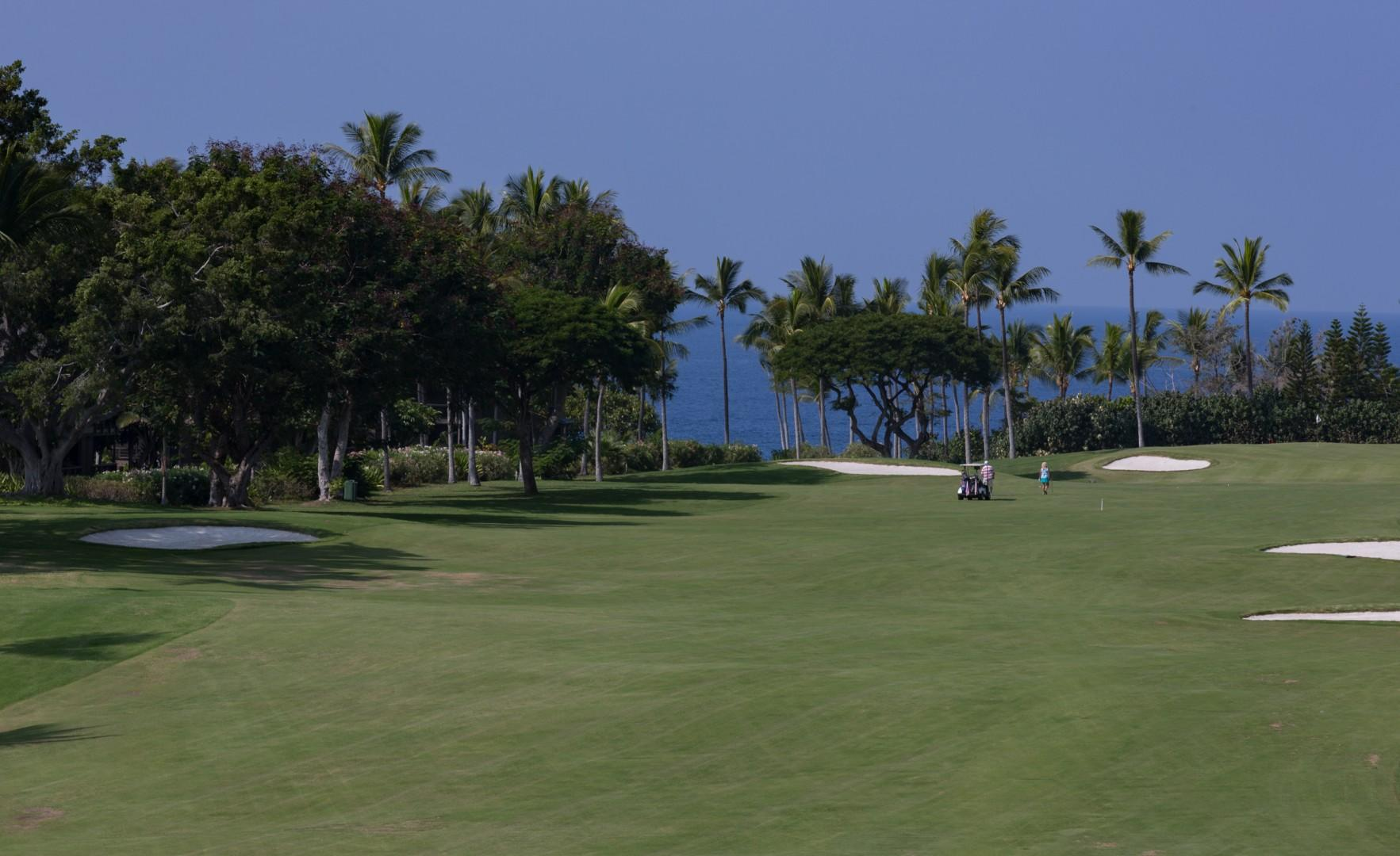 Views of the Kona Country Club Golf Course.