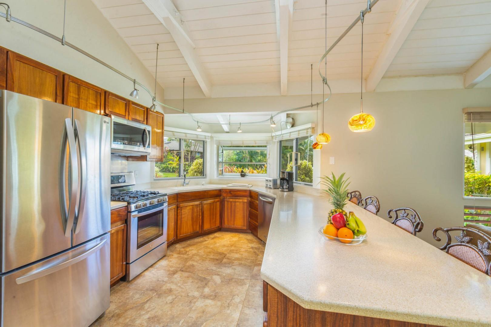Upgraded kitchen with high-quality appliances