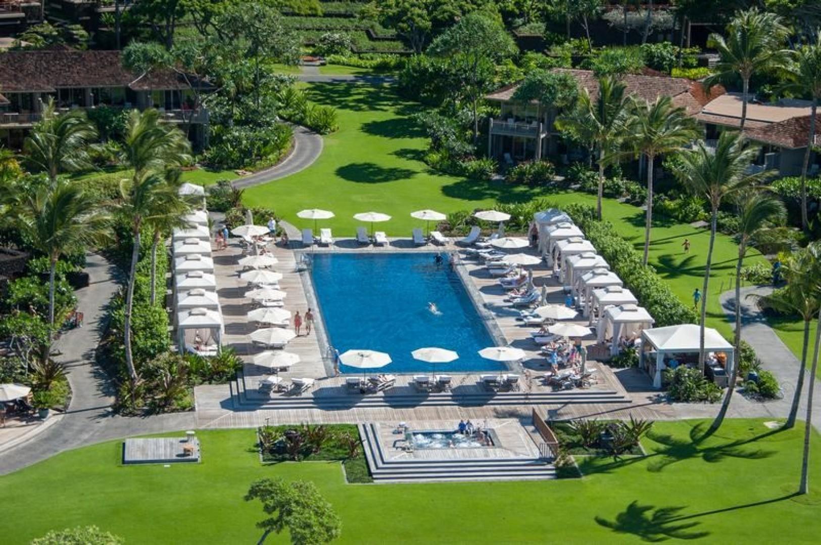 Let your Vacation begin at the Pool at the Four Seasons Resort Hualalai !