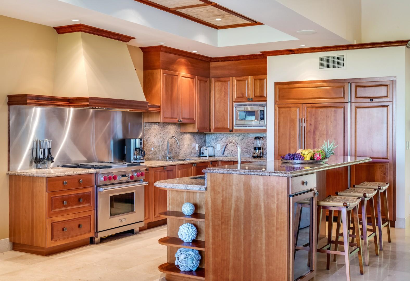 Close Up of Modern Gourmet Kitchen with Gas Range