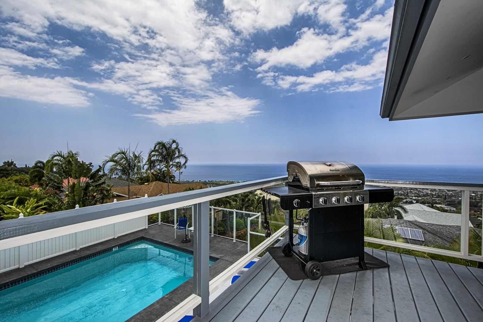 BBQ on the Lanai while taking in the breathtaking ocean views