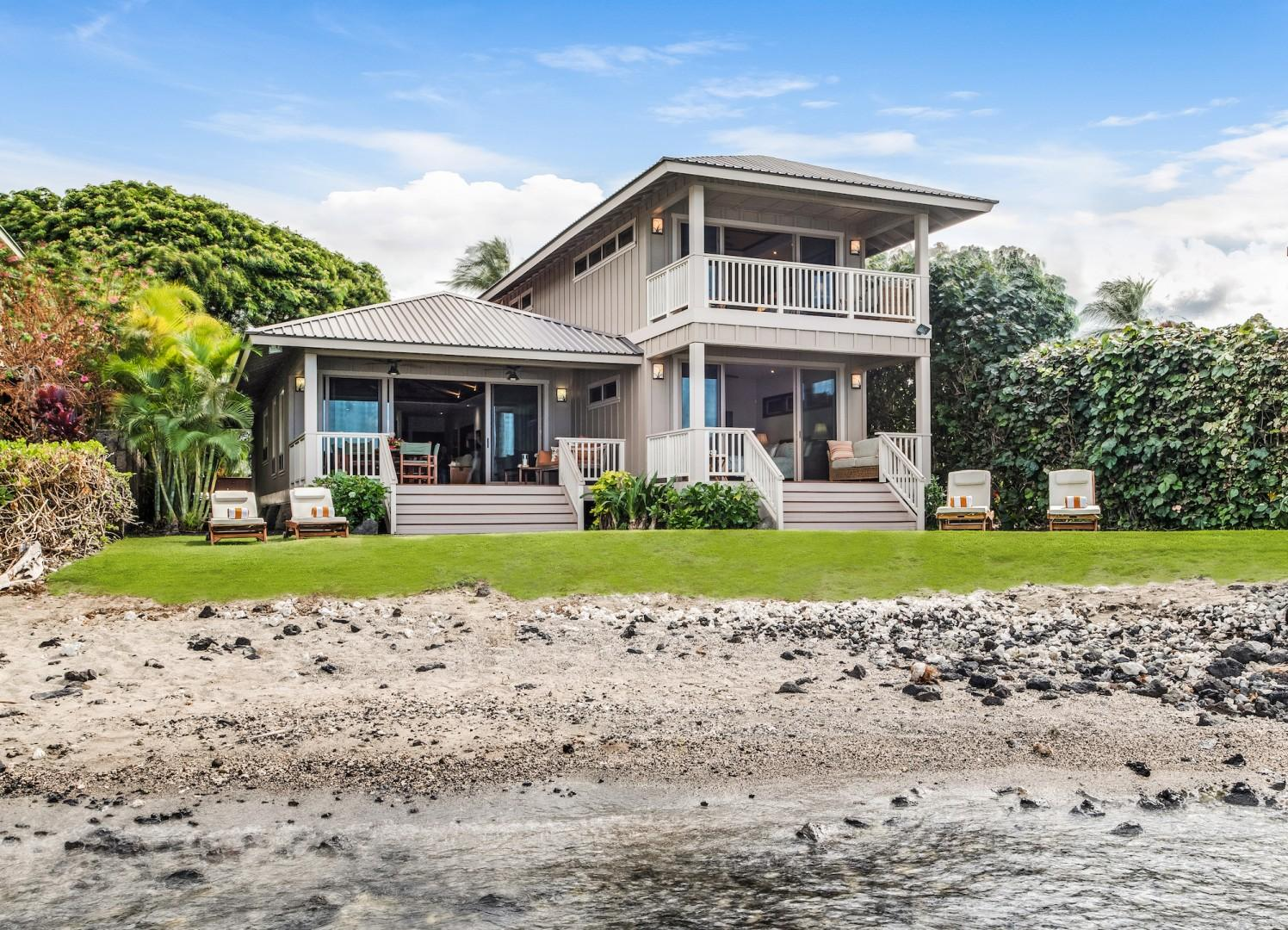 Beachside Bungalow w/ an Easy Flow to the Beautiful Outdoors. Master Bedroom Commands Entire Top Floor