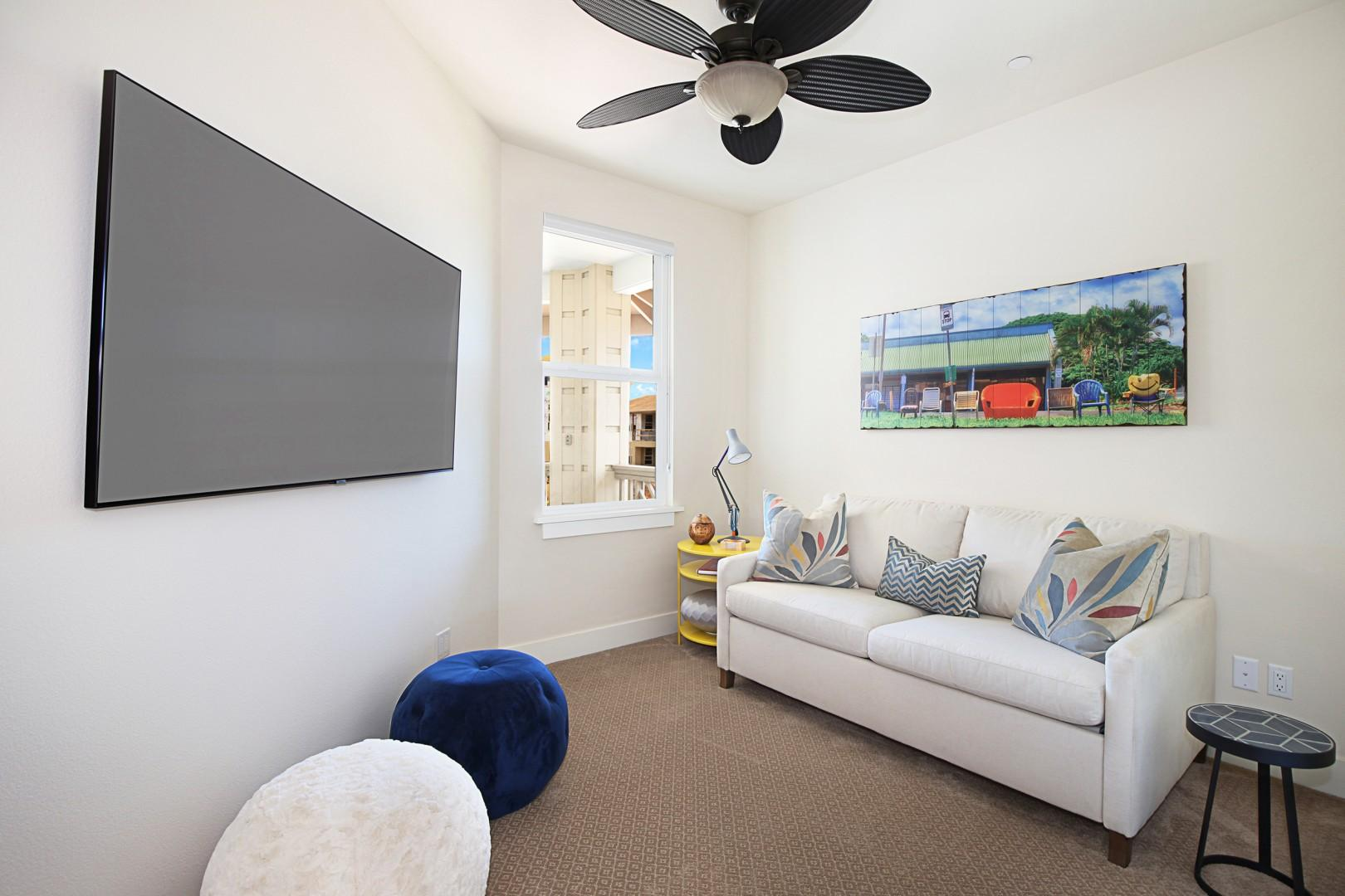 Third bedroom with pull out couch.