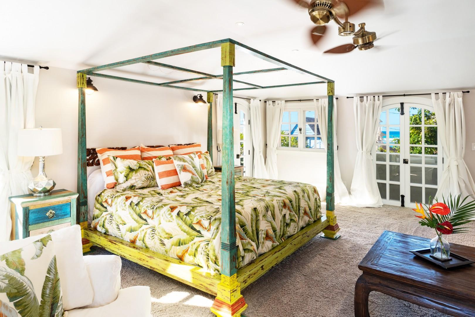 Large Master suite on top level with peak a boo ocean views