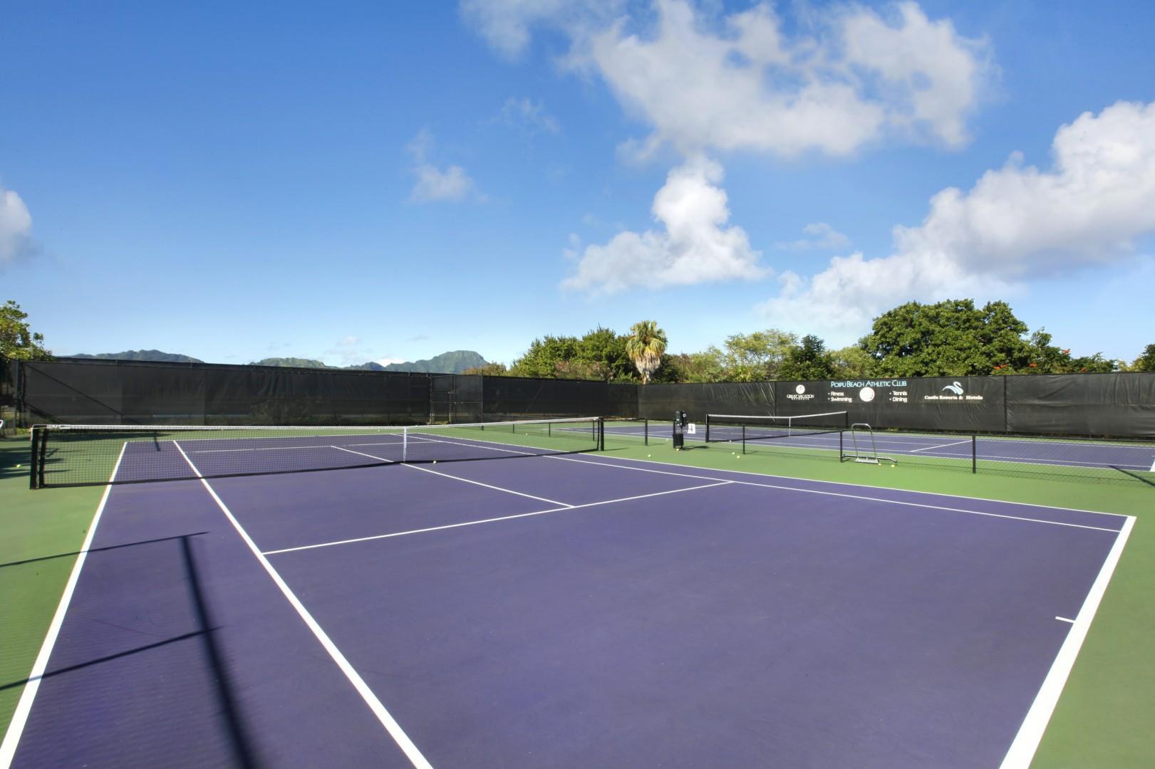 Tennis courts at Poipu Beach Athletic Club