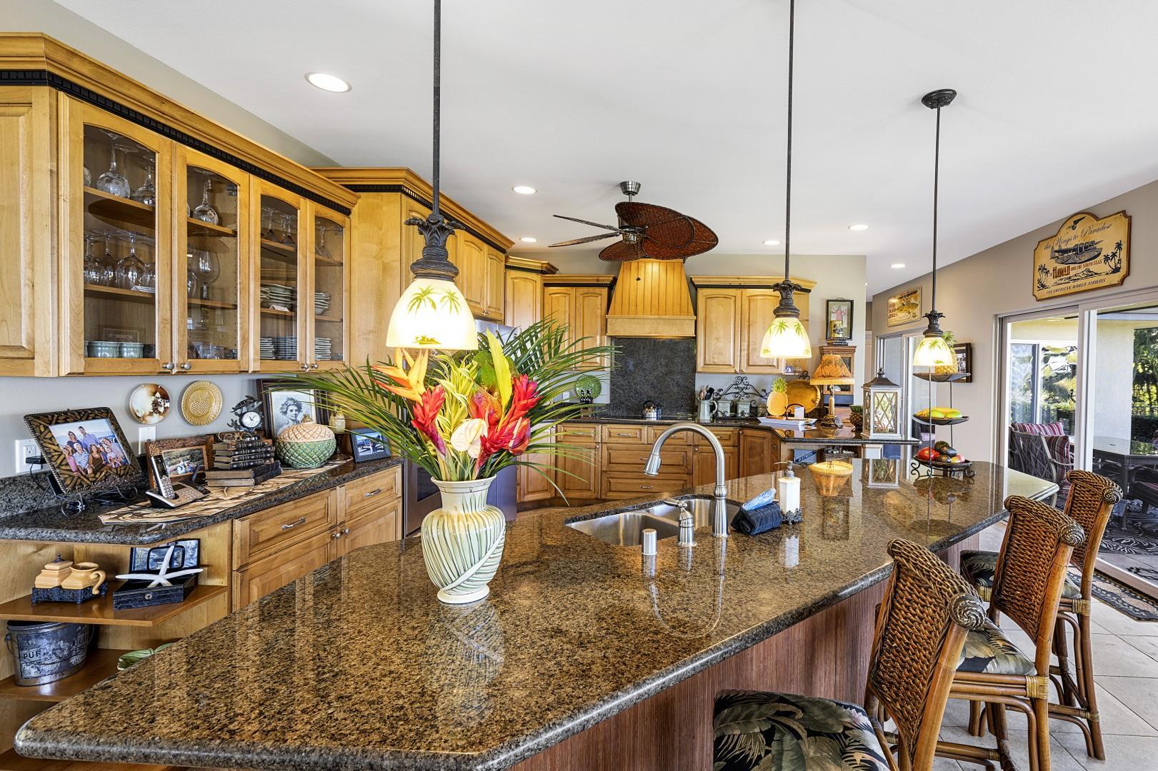 Gourmet custom kitchen makes meal preparation a breeze!