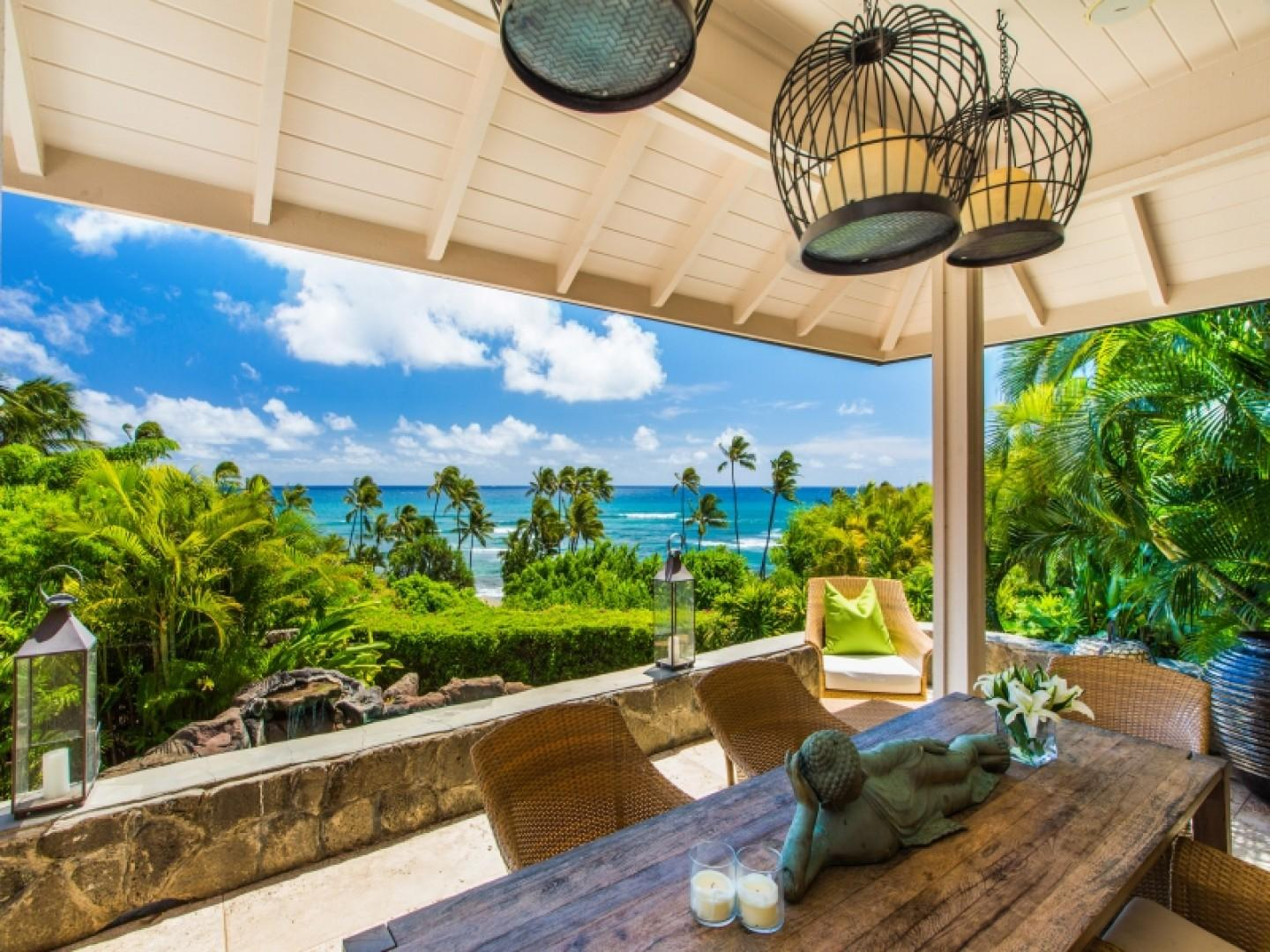 Outside Lanai and Dining with Ocean Views