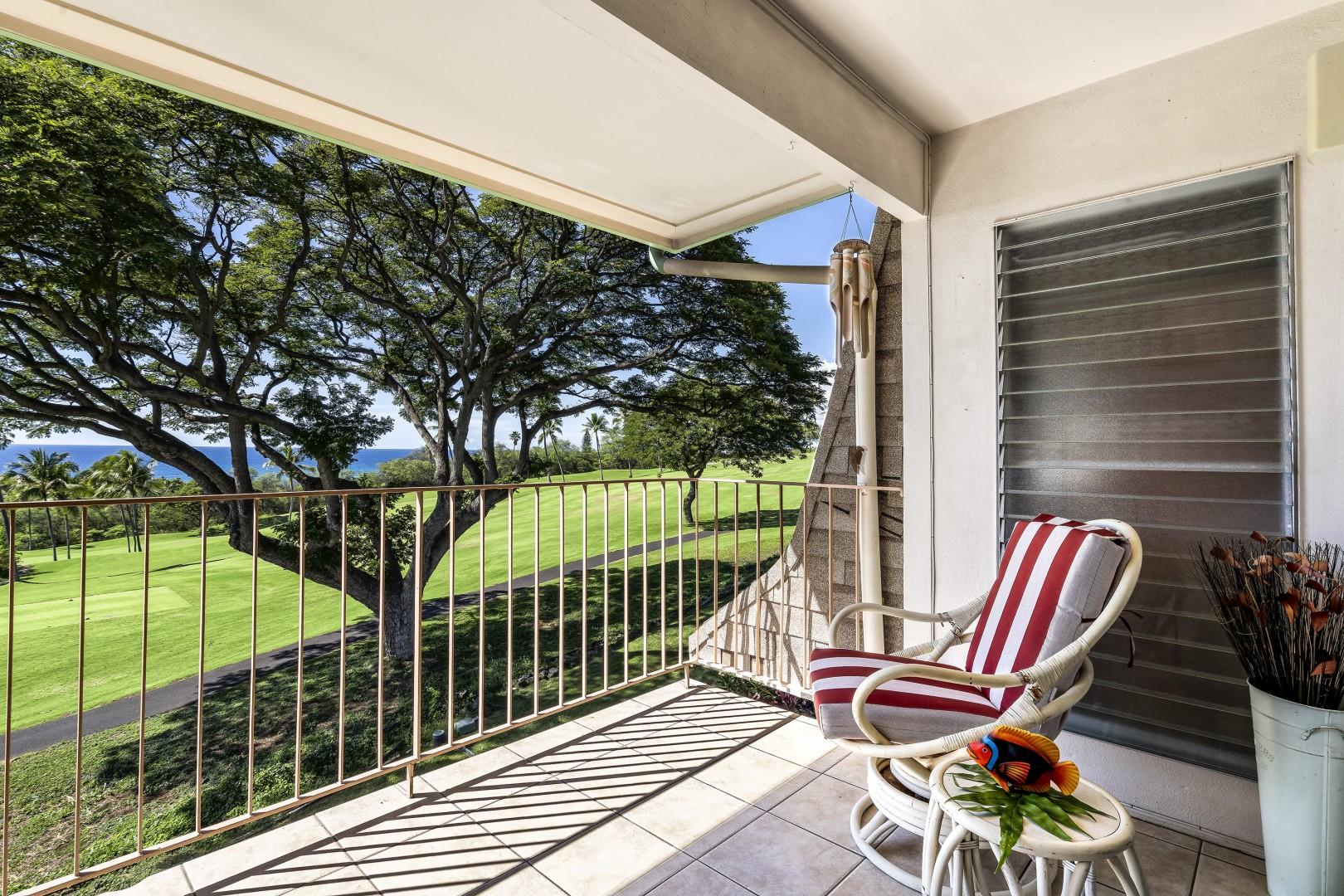Additional Lanai seating with Ocean views