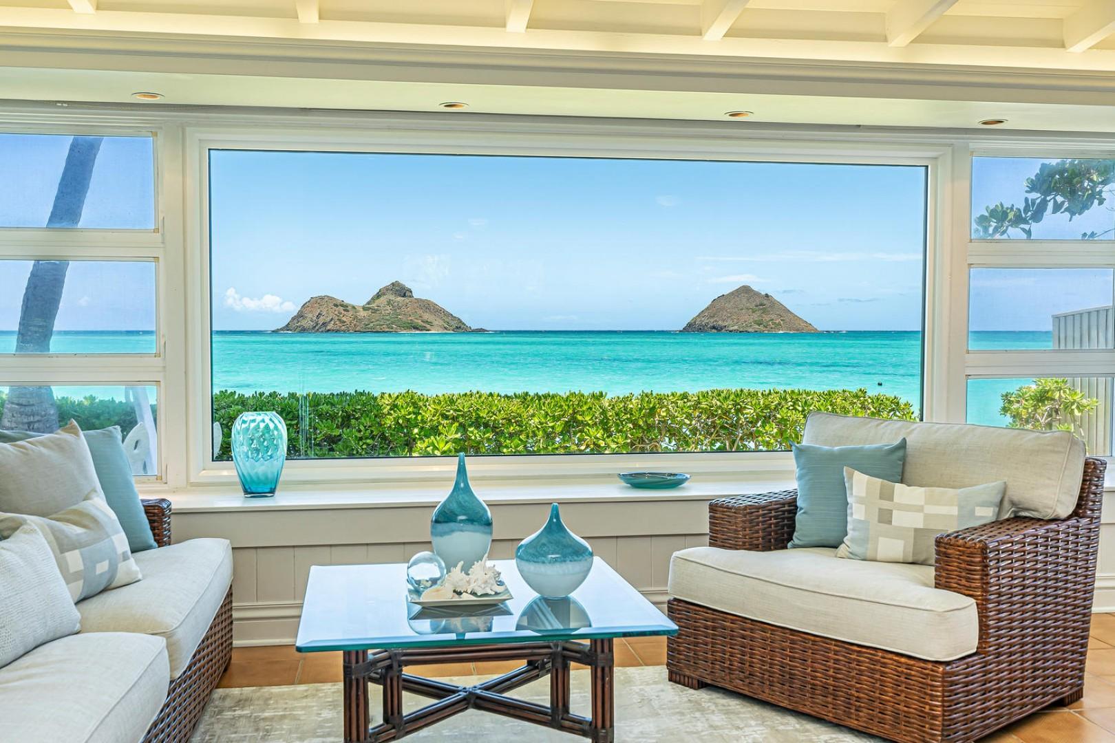 Lanikai Seashore Living Room View