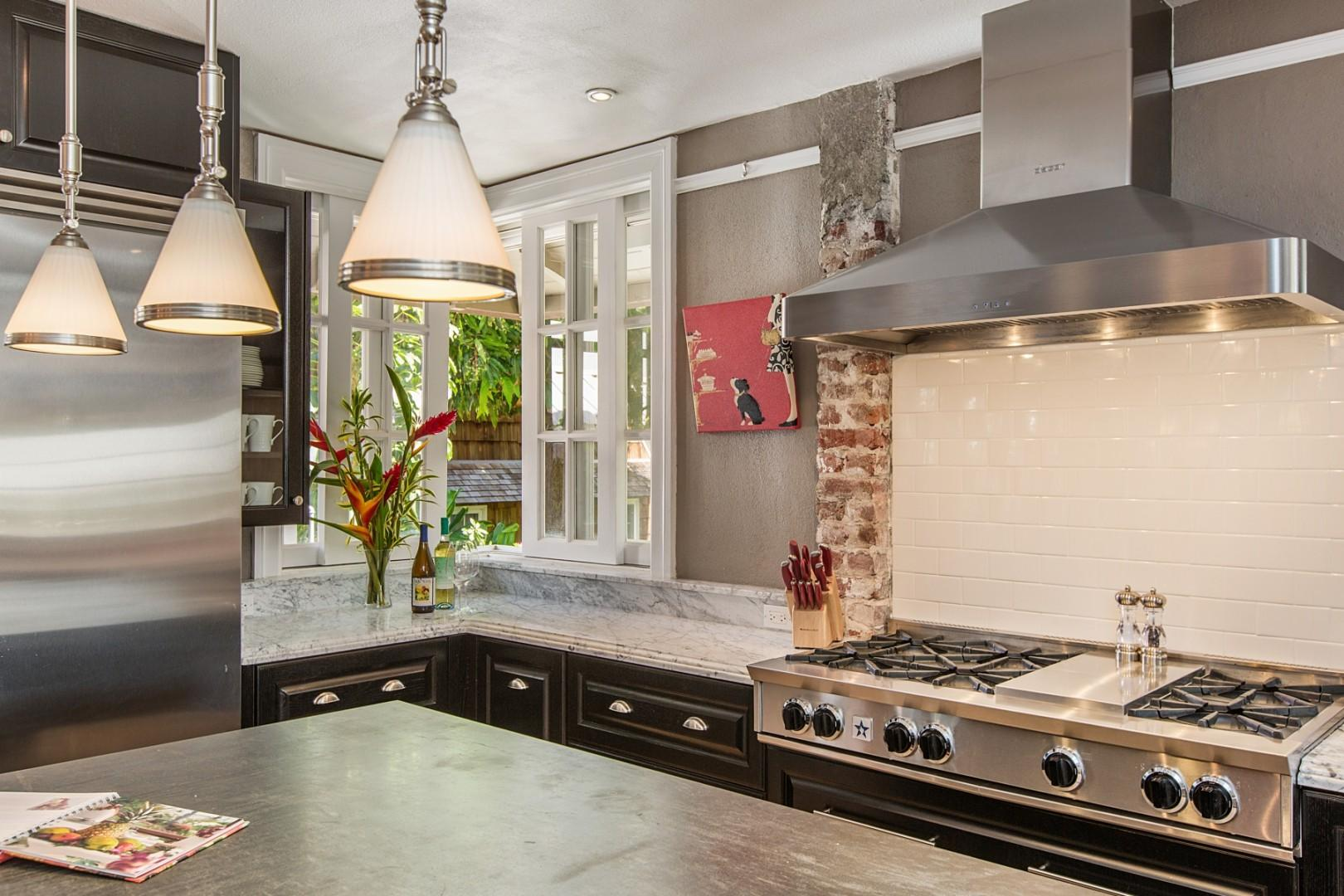 Chef's dream kitchen includes top-of-the-line appliances!