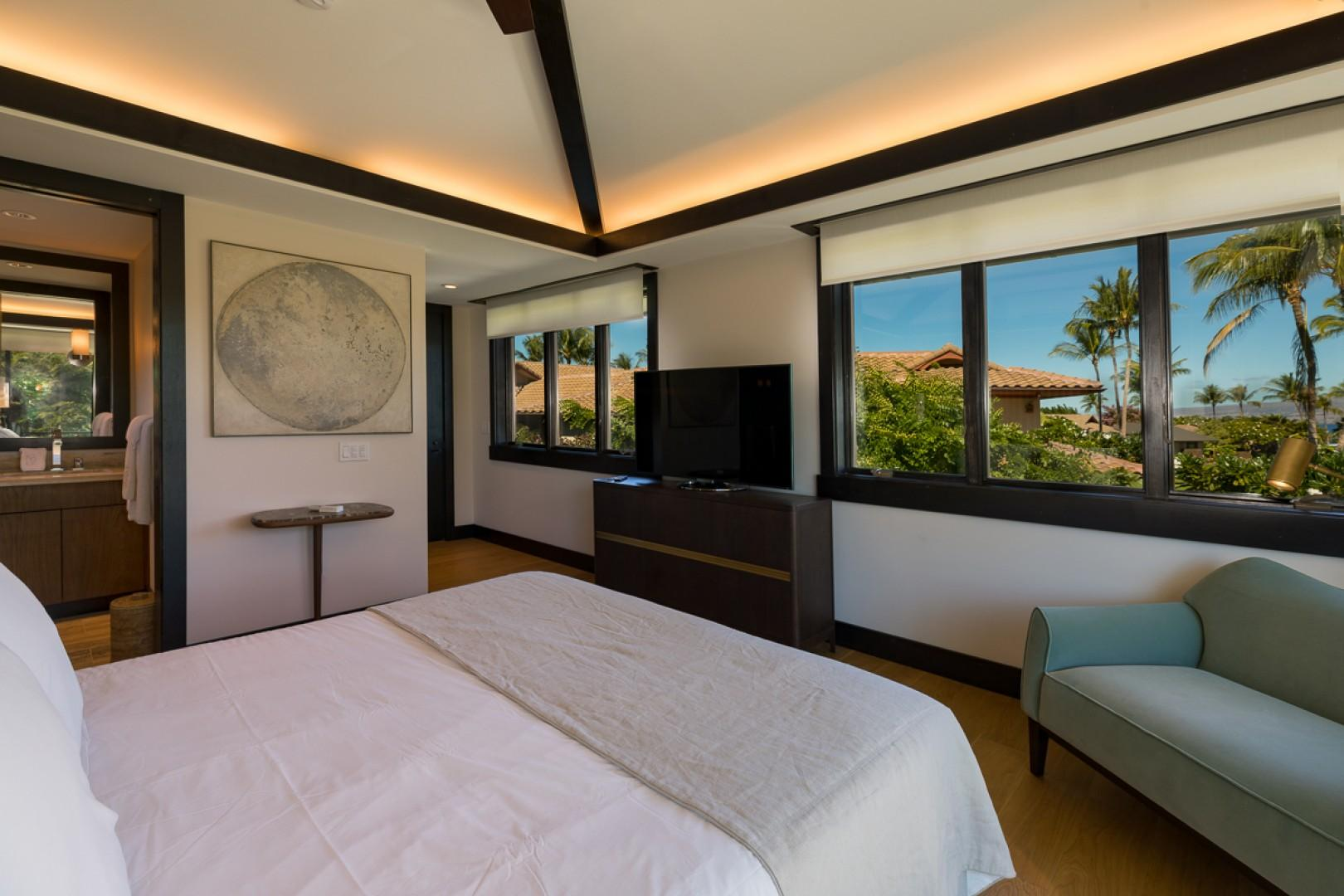 Sitting areas and televisions ensure guest comfort