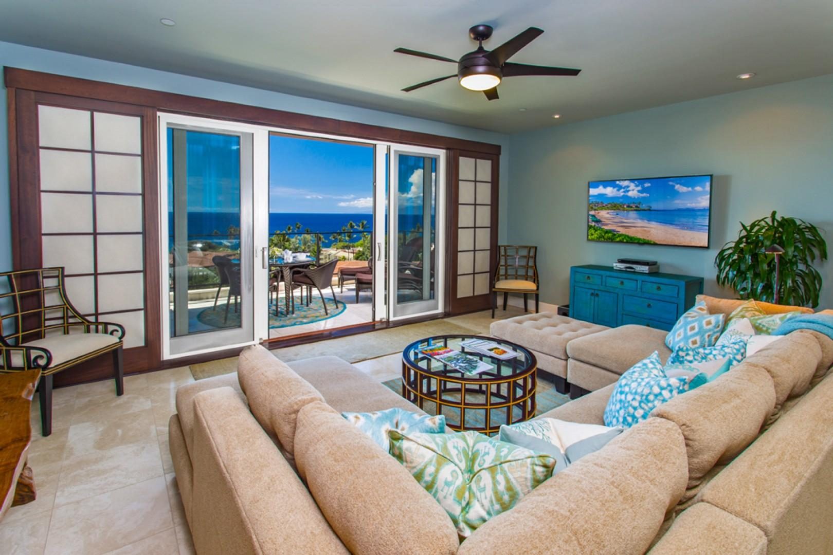 J505 Ocean View Great Room with Exceptional Views, Comfortable Decor, and State-of-the-Art Entertainment Amenities