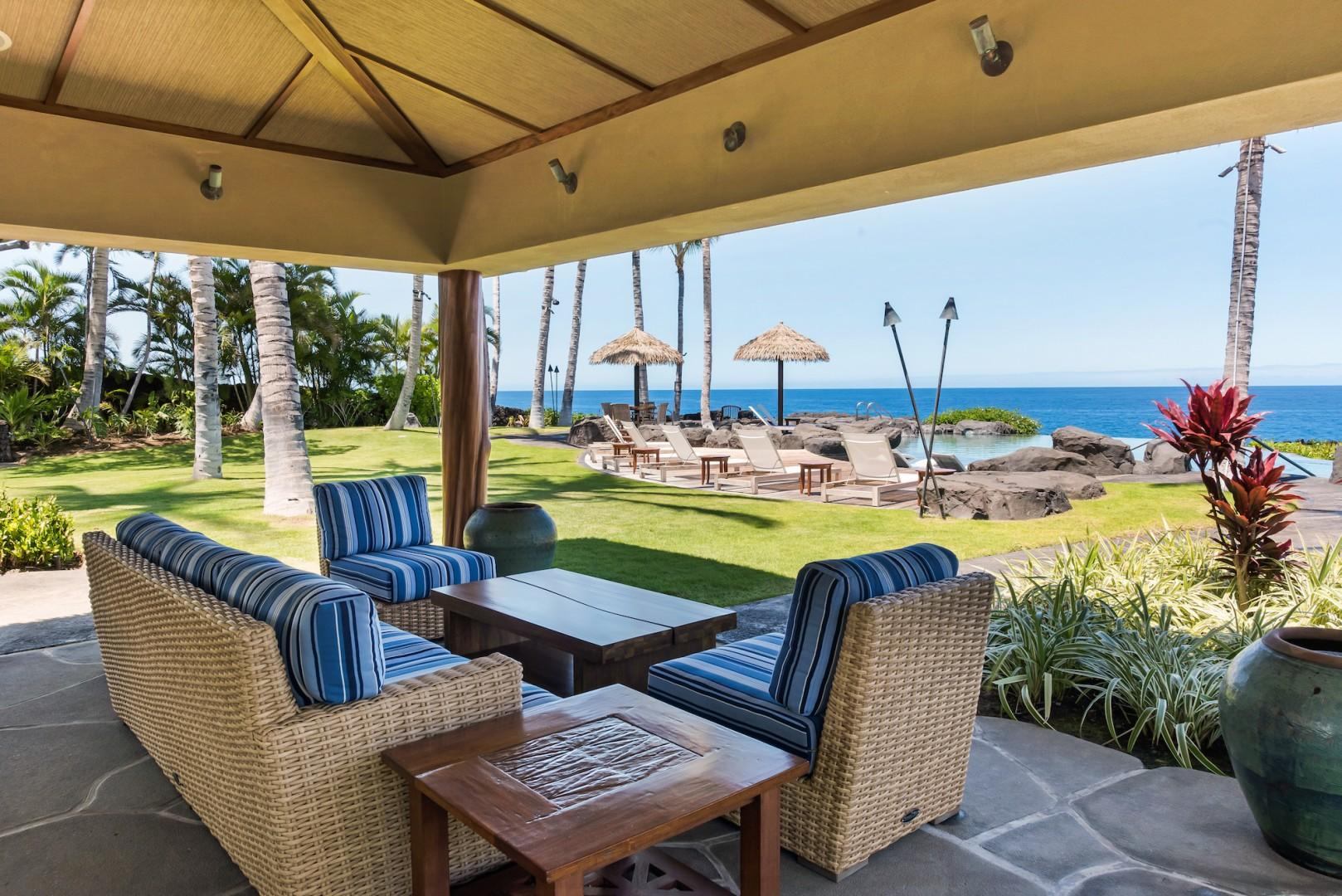 The Grotto Amenity Center w/ Plenty of Shady Places to Lounge and Soak Up the Stunning Ocean Views