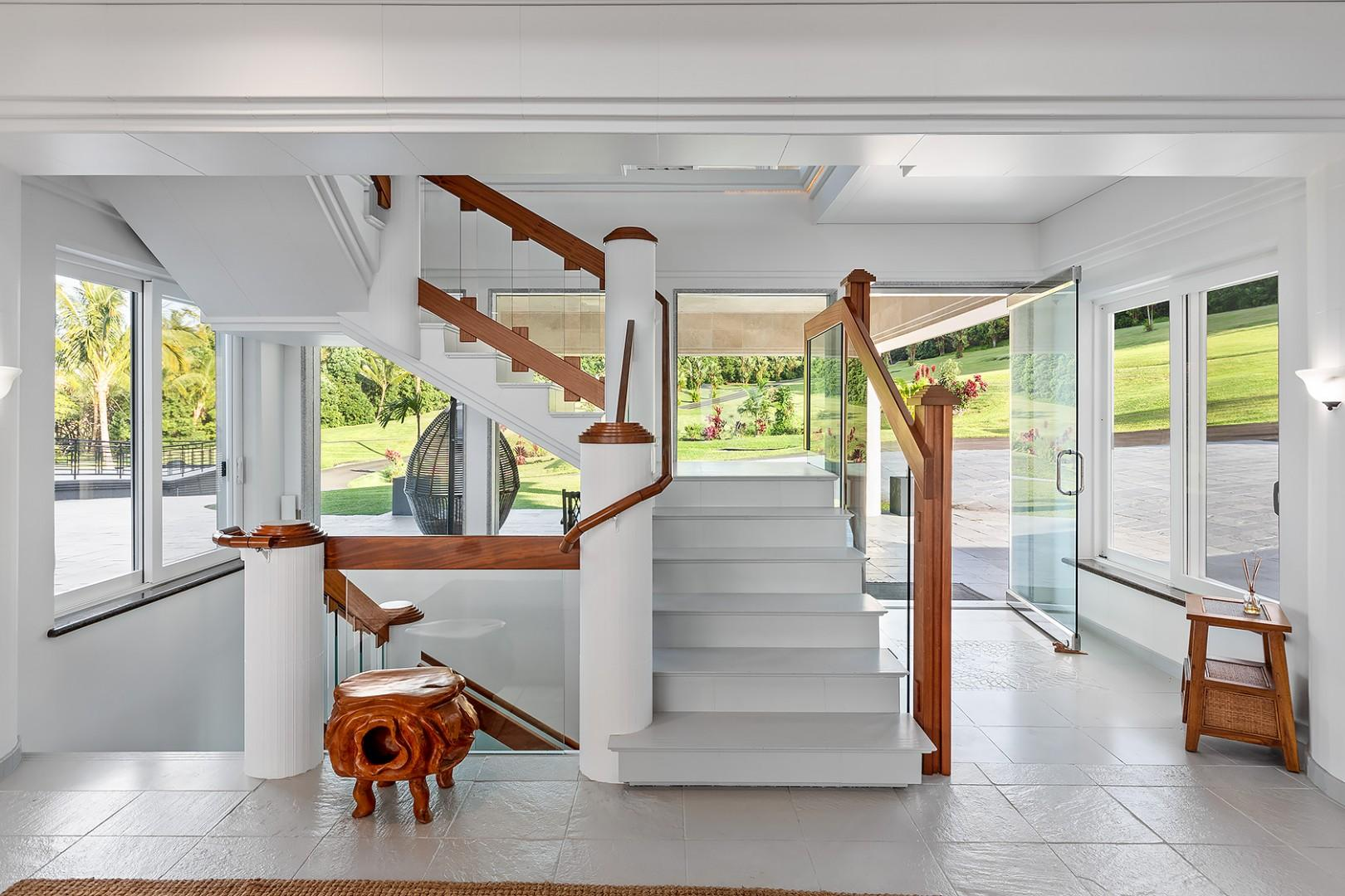 Stairwell to different home levels