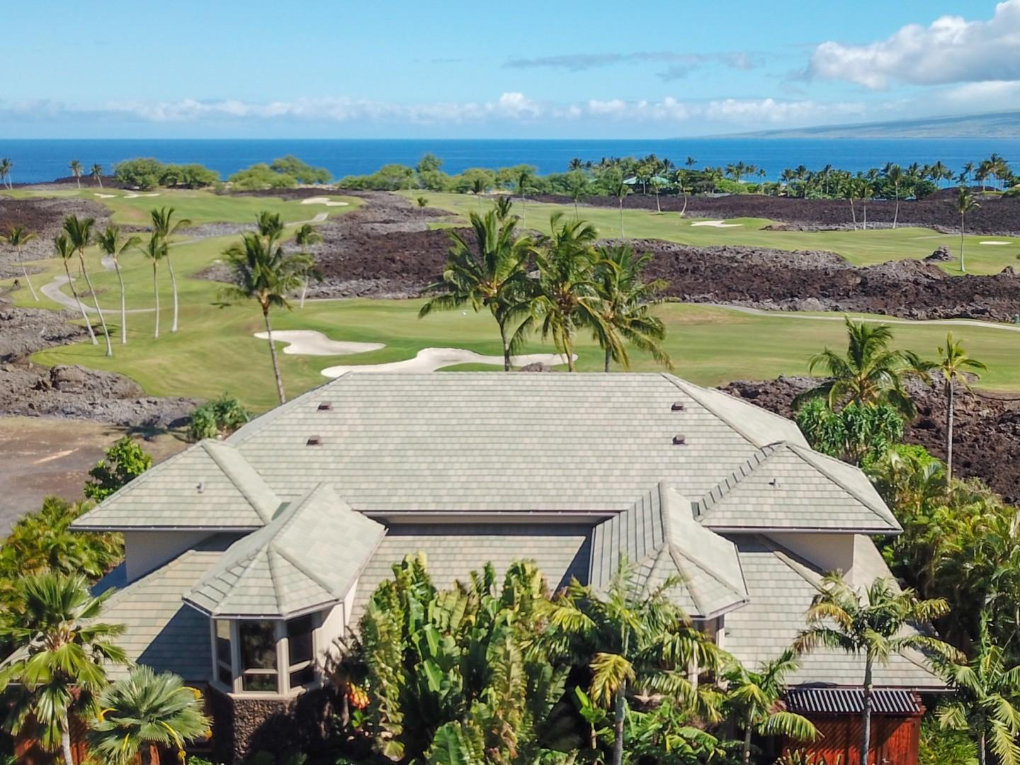 House Surrounded by the Manicured Greens of the Mauna Lani Course, just Minutes from the Ocean and Beach Club