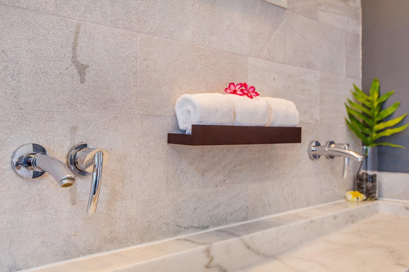 En suite master bath.