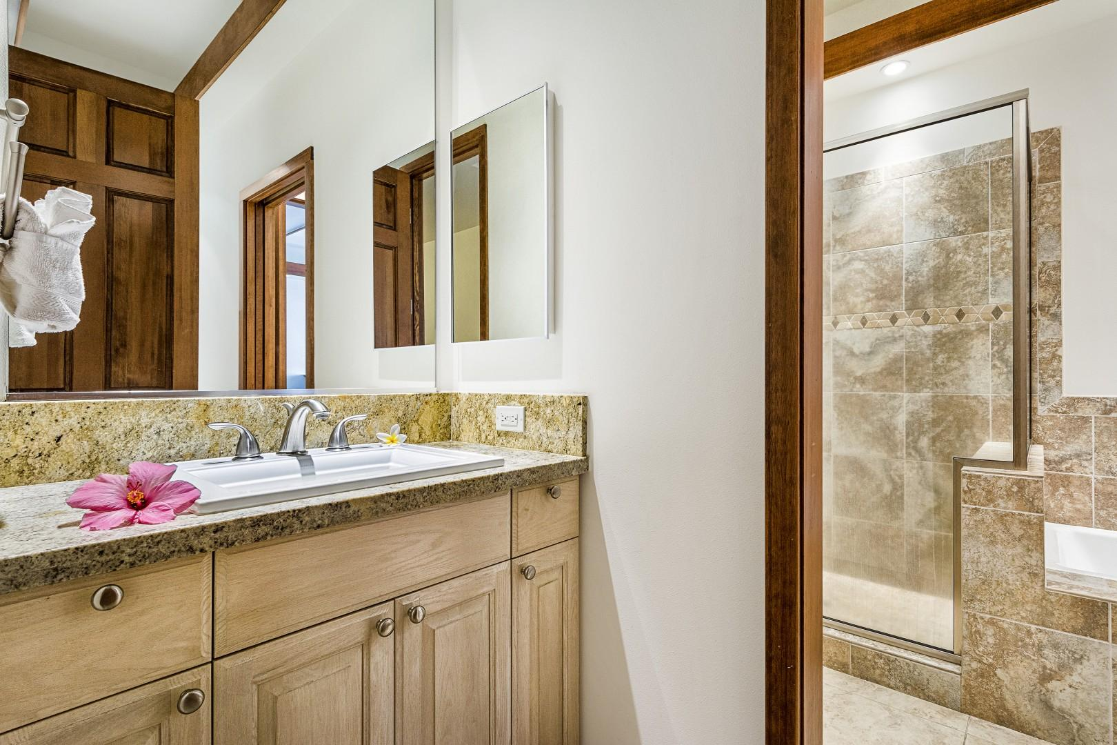 Guest bathroom with hall access