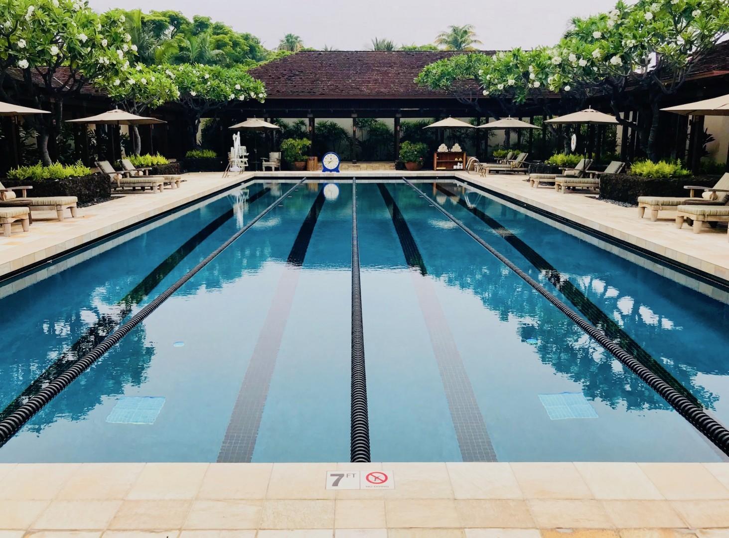 Four Seasons Resort lap pool.
