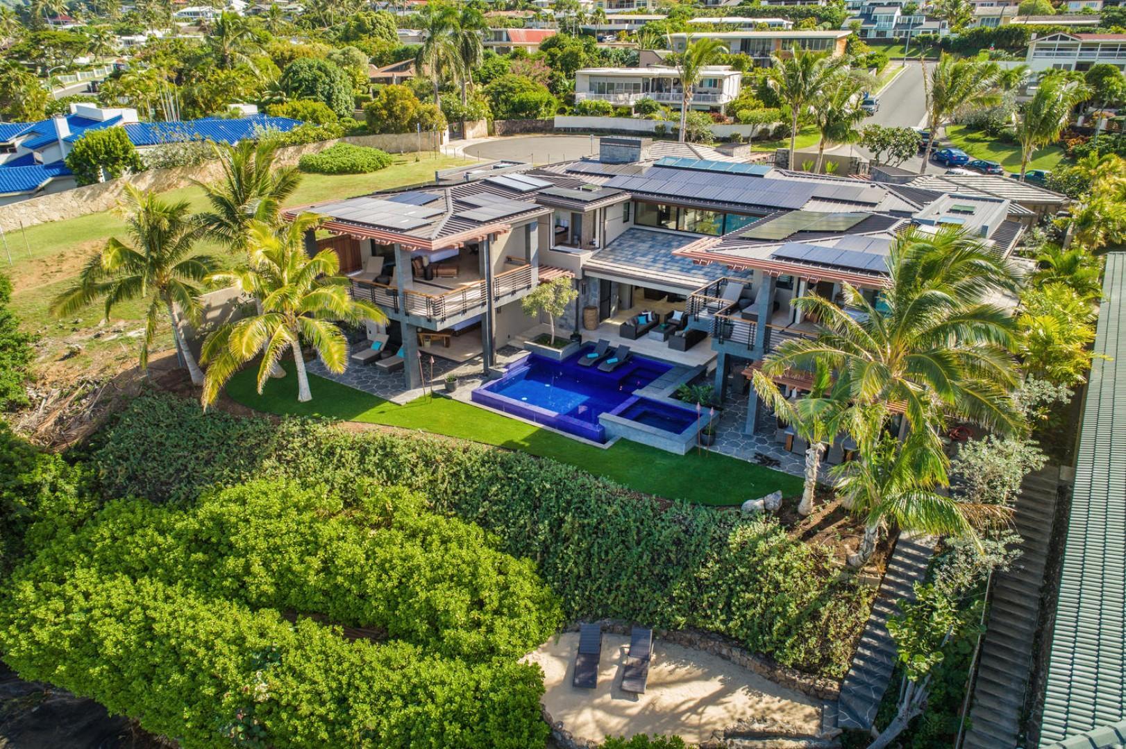 Aerial shot of Ocean House.