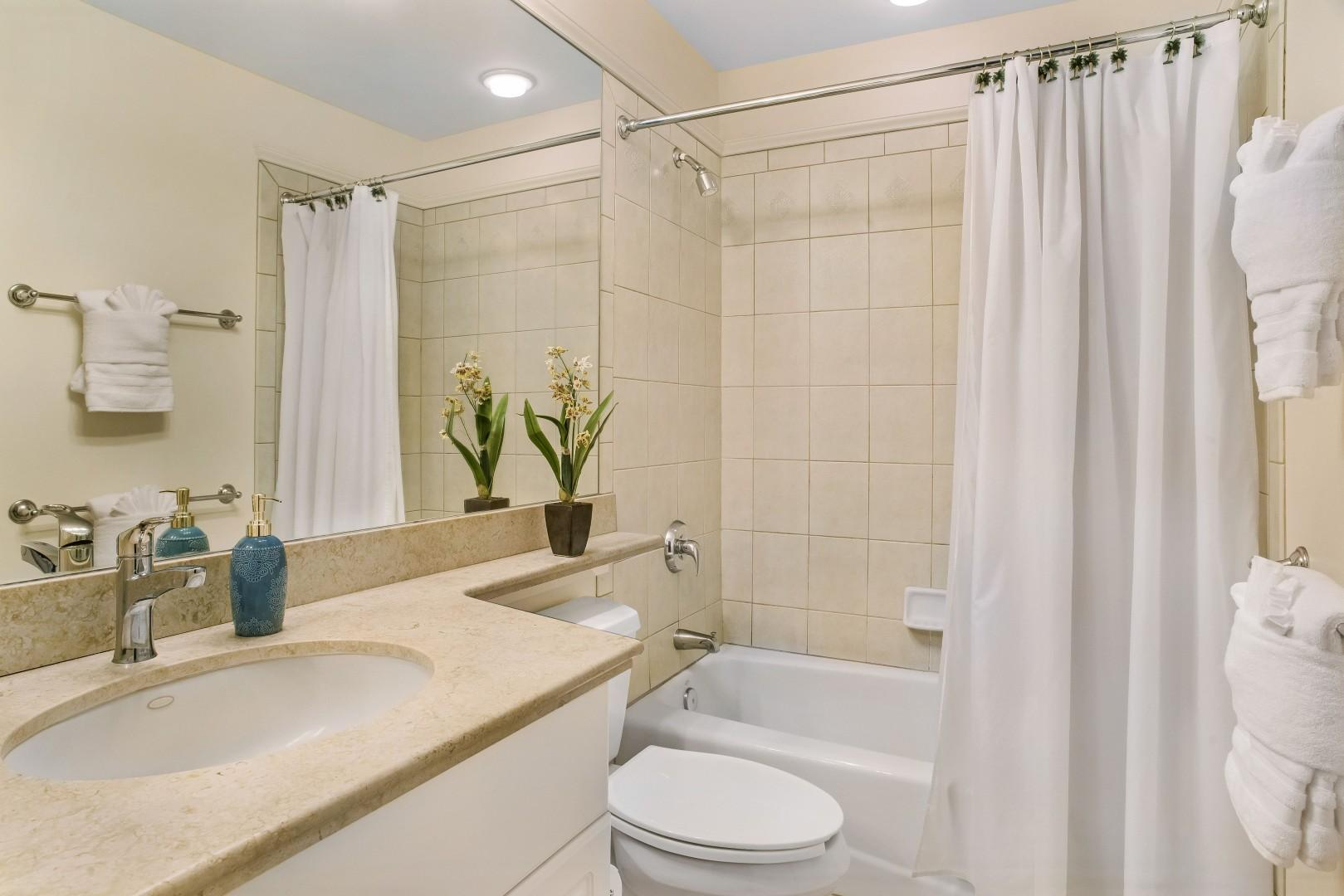 Upstairs Guest Bath w/ Shower/Tub Combo