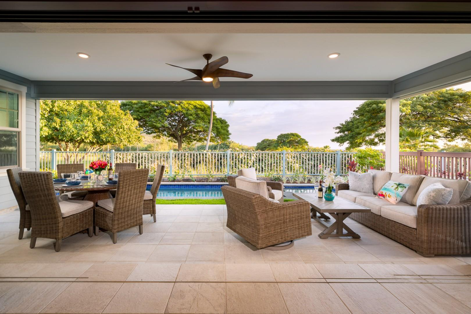 Unwind in the shade on the lanai
