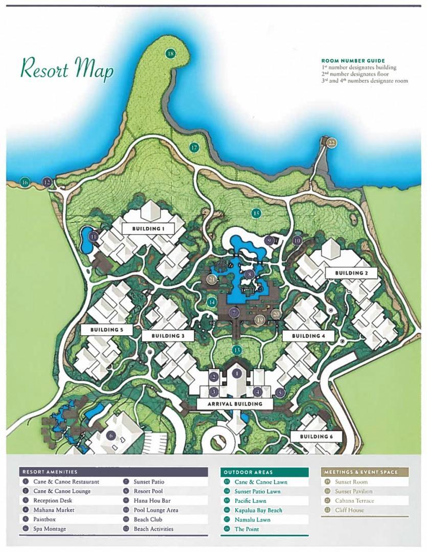 Montage Kapalua Bay Resort Map