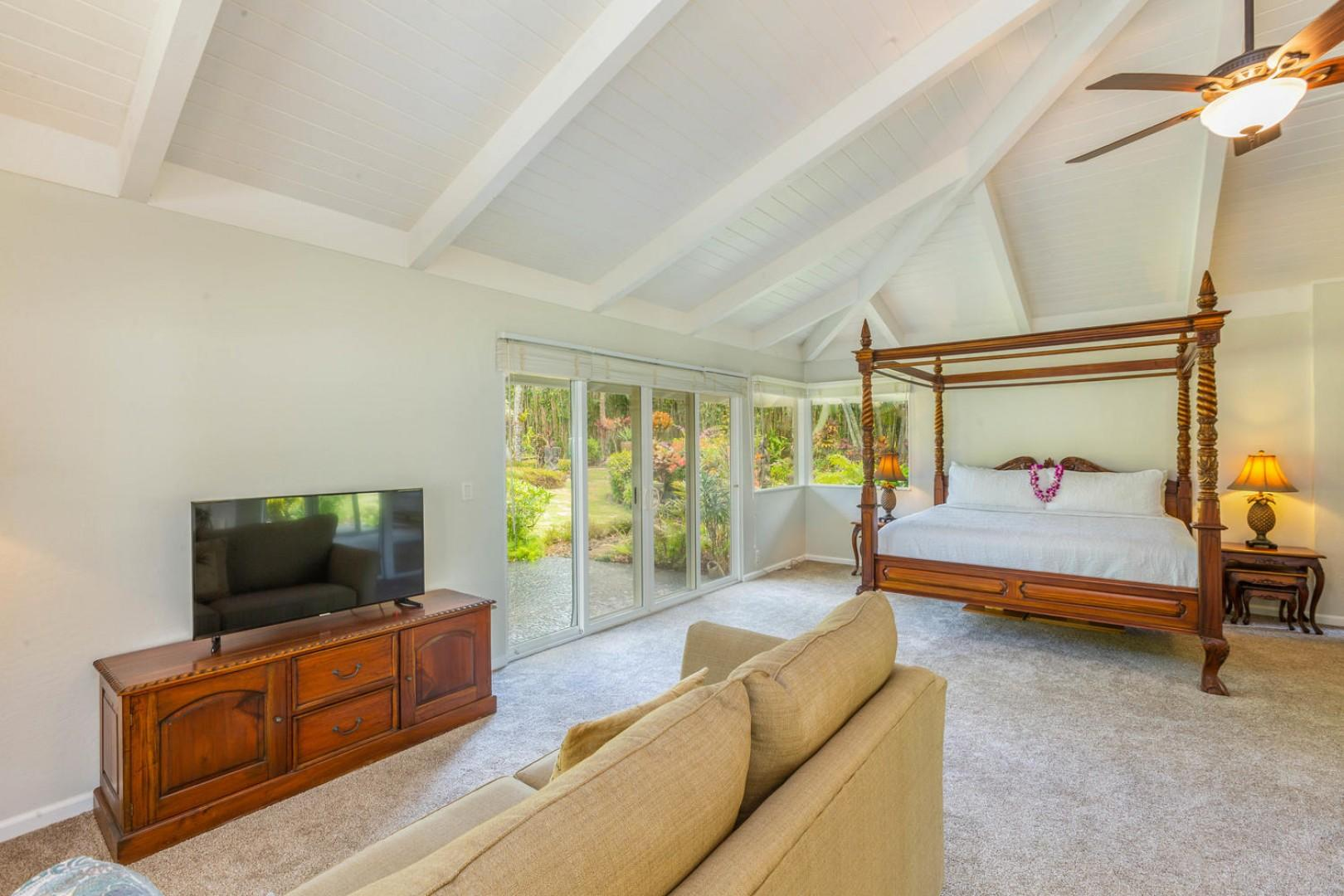 Comfortable seating area in the master bedroom