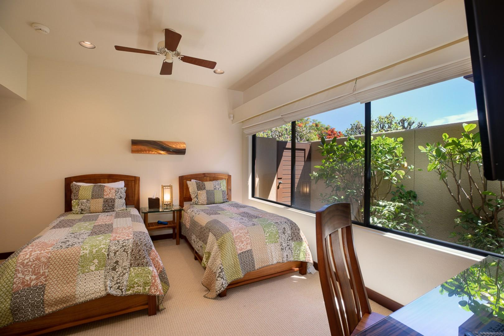 Third Bedroom with Garden View