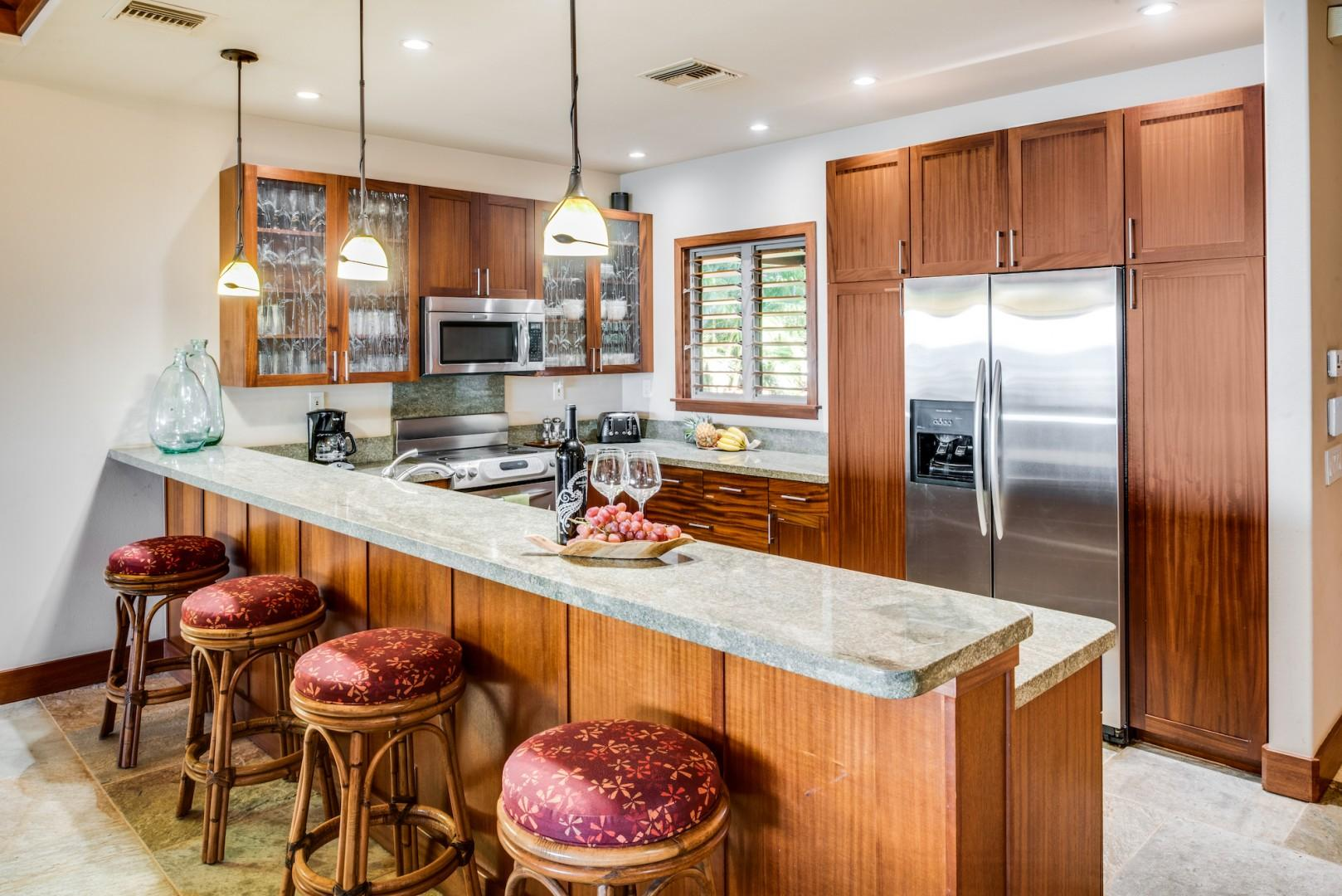 Kitchen Bar w/ Granite Countertops