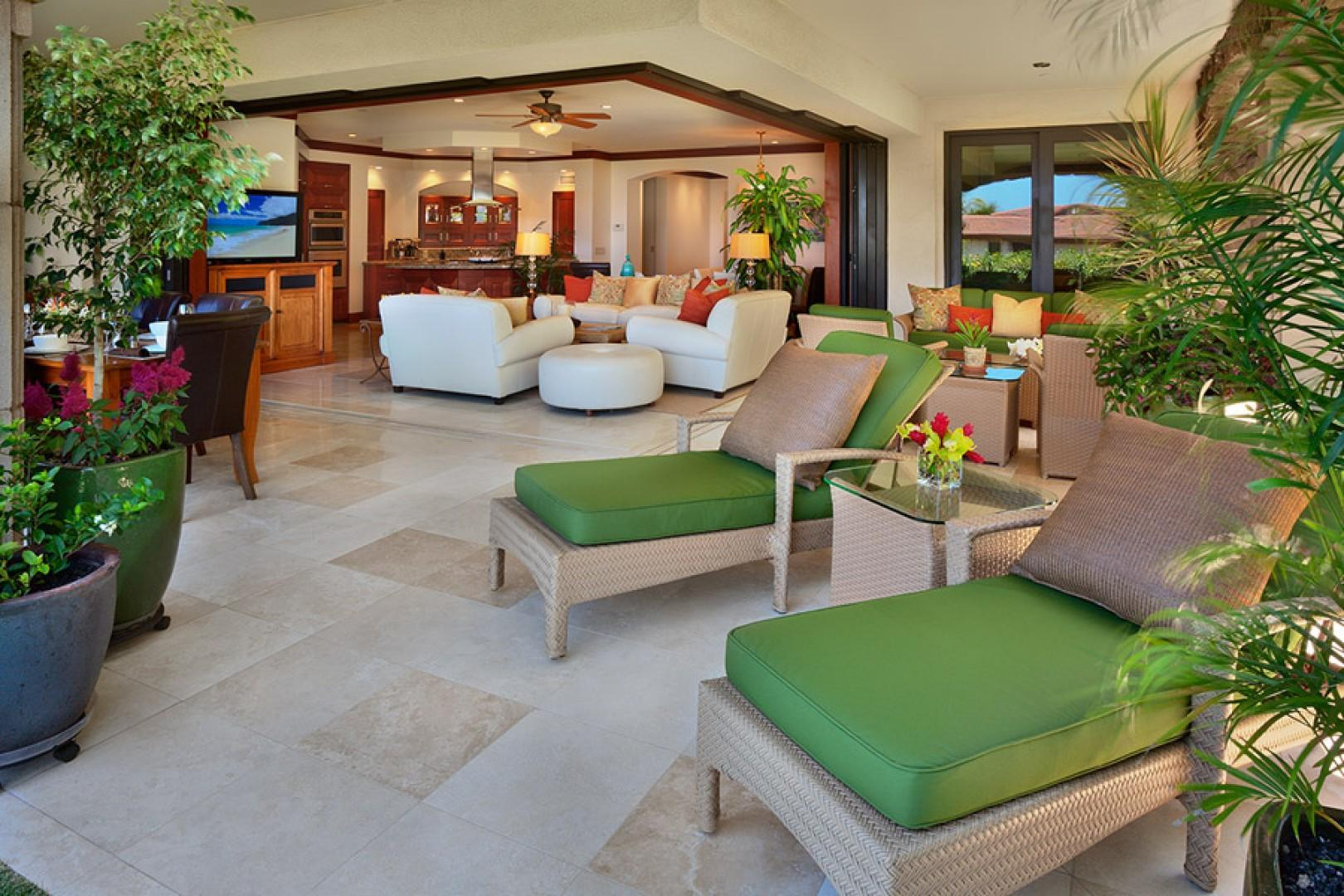 Outdoor lounging area.