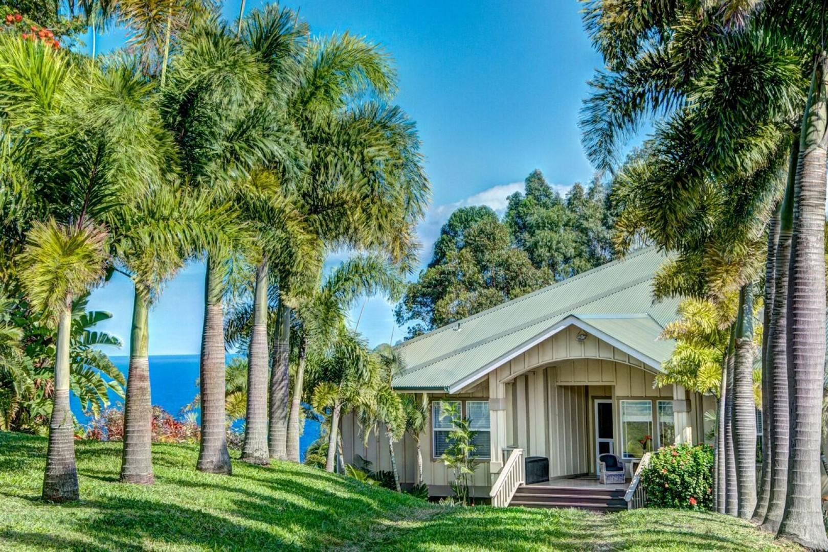 Hale Luana a grand home on 2.5 acres with ocean views....with room for 8 guests this is a great place to gather.