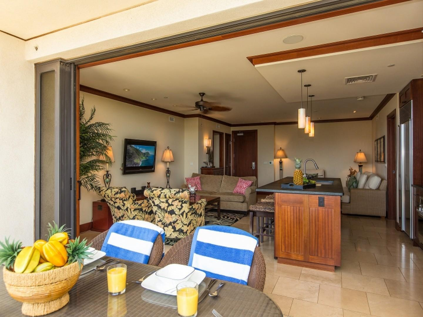 View from outside lanai looking inside