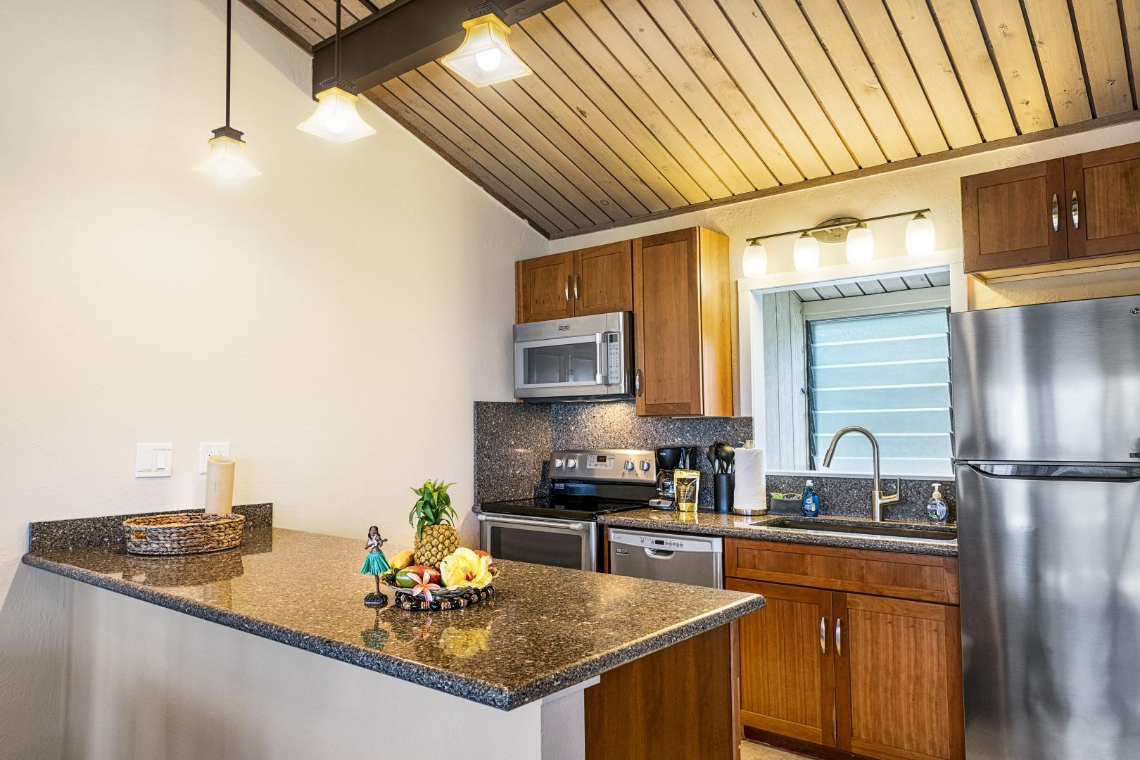 Open floor plan kitchen with high end touches!