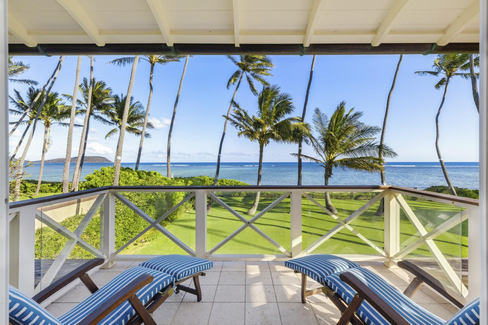 View from second-floor master bedroom lanai