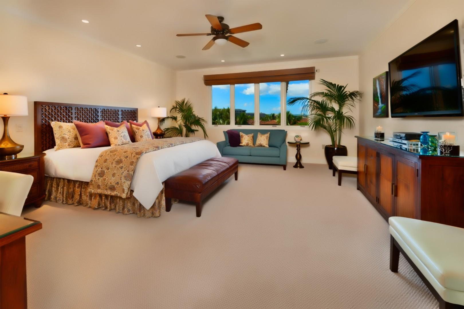 Expansive master bedroom.