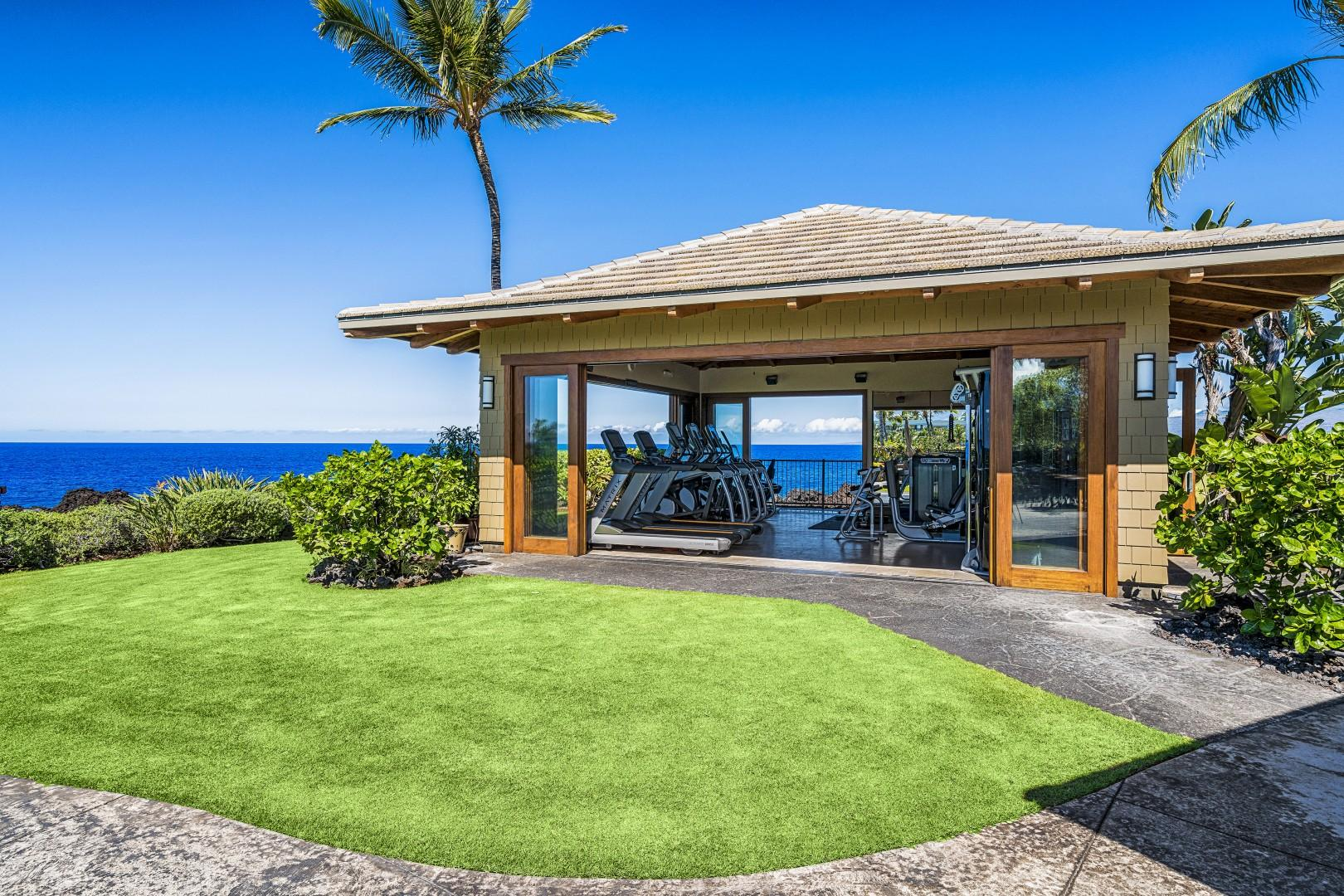 Hali'i Kai fitness center, with a view!