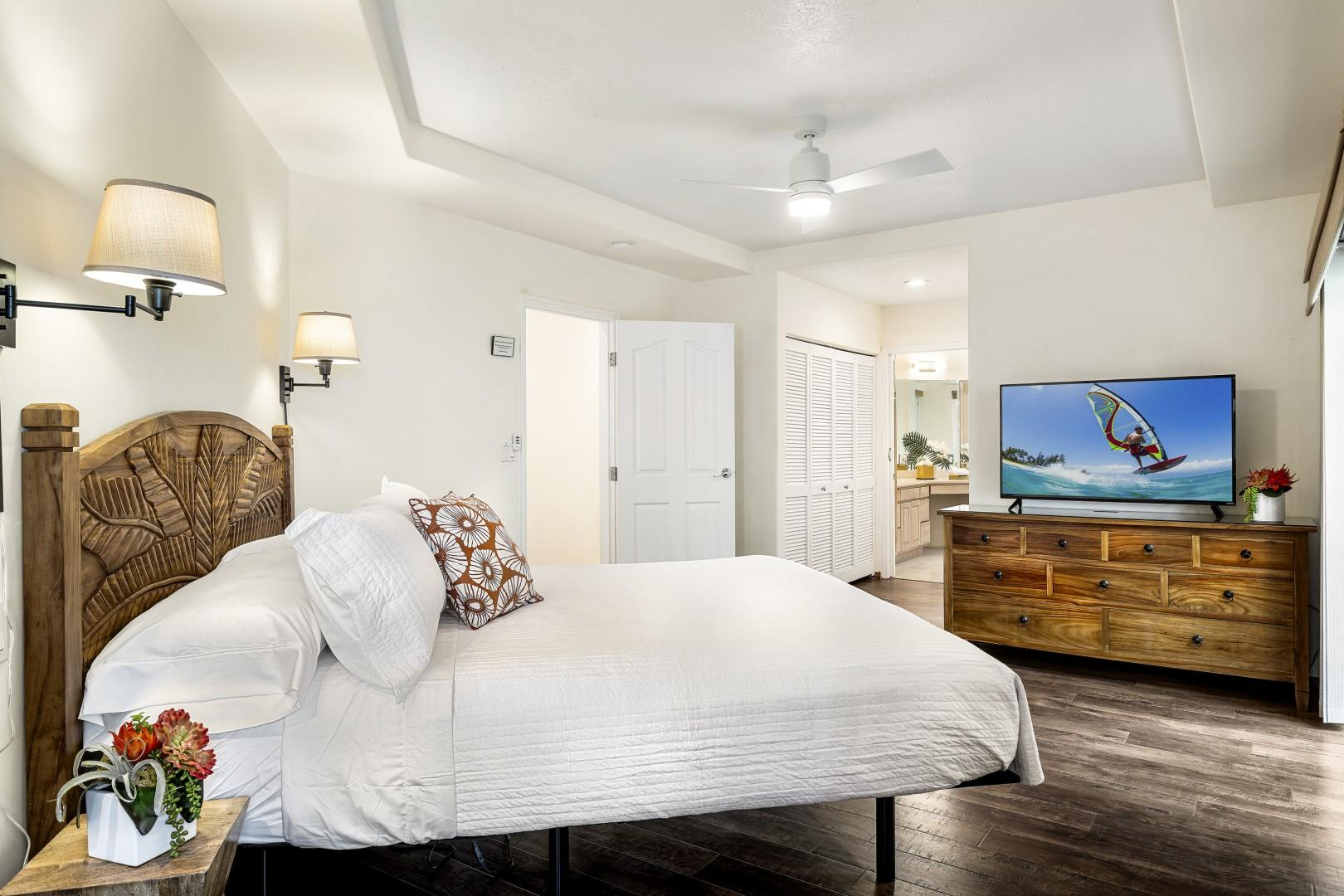 Spacious Master offers a resort style living with adjustable bed frame