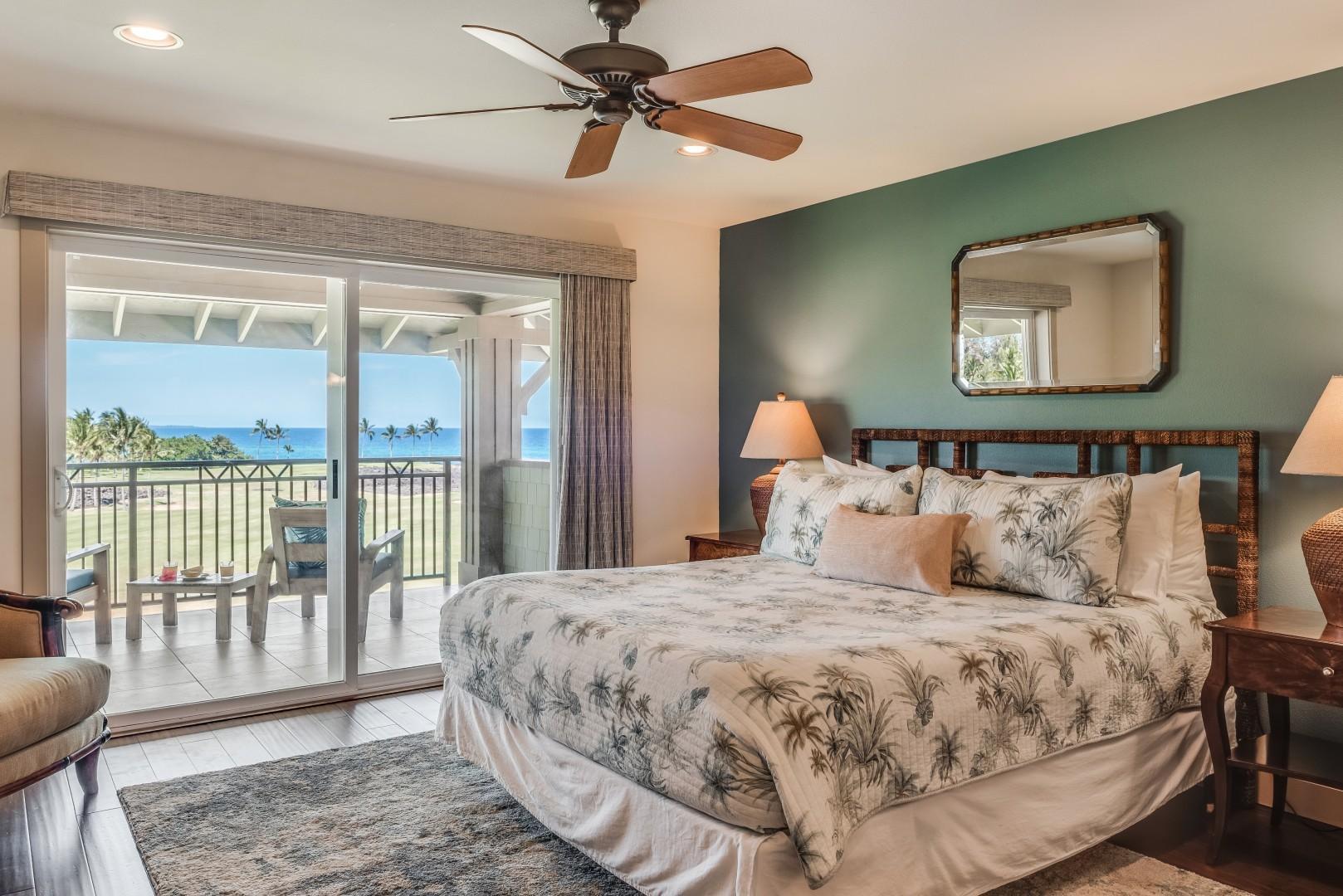 Alternate view of master bedroom w/ ocean view