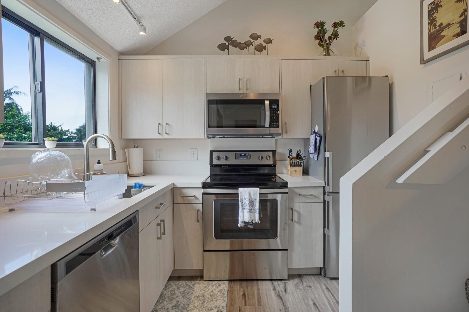 Kitchen with abundant natural light