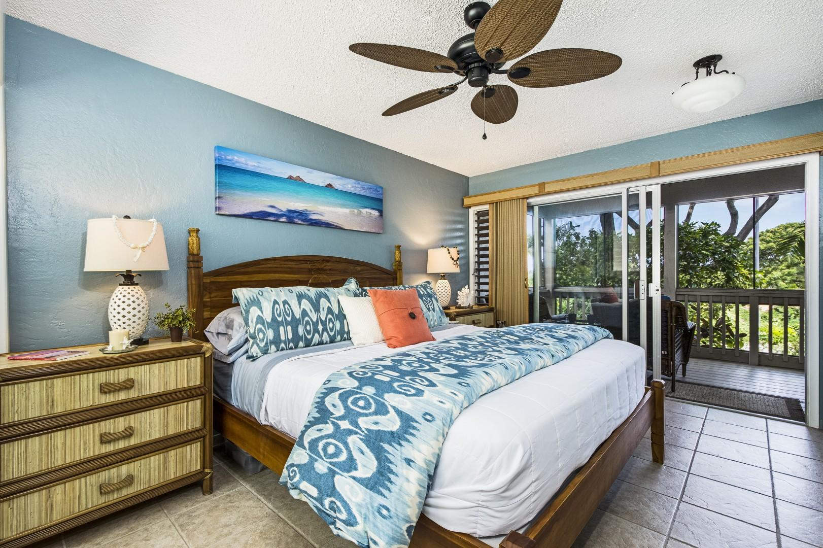 Master bedroom equipped with King Bed